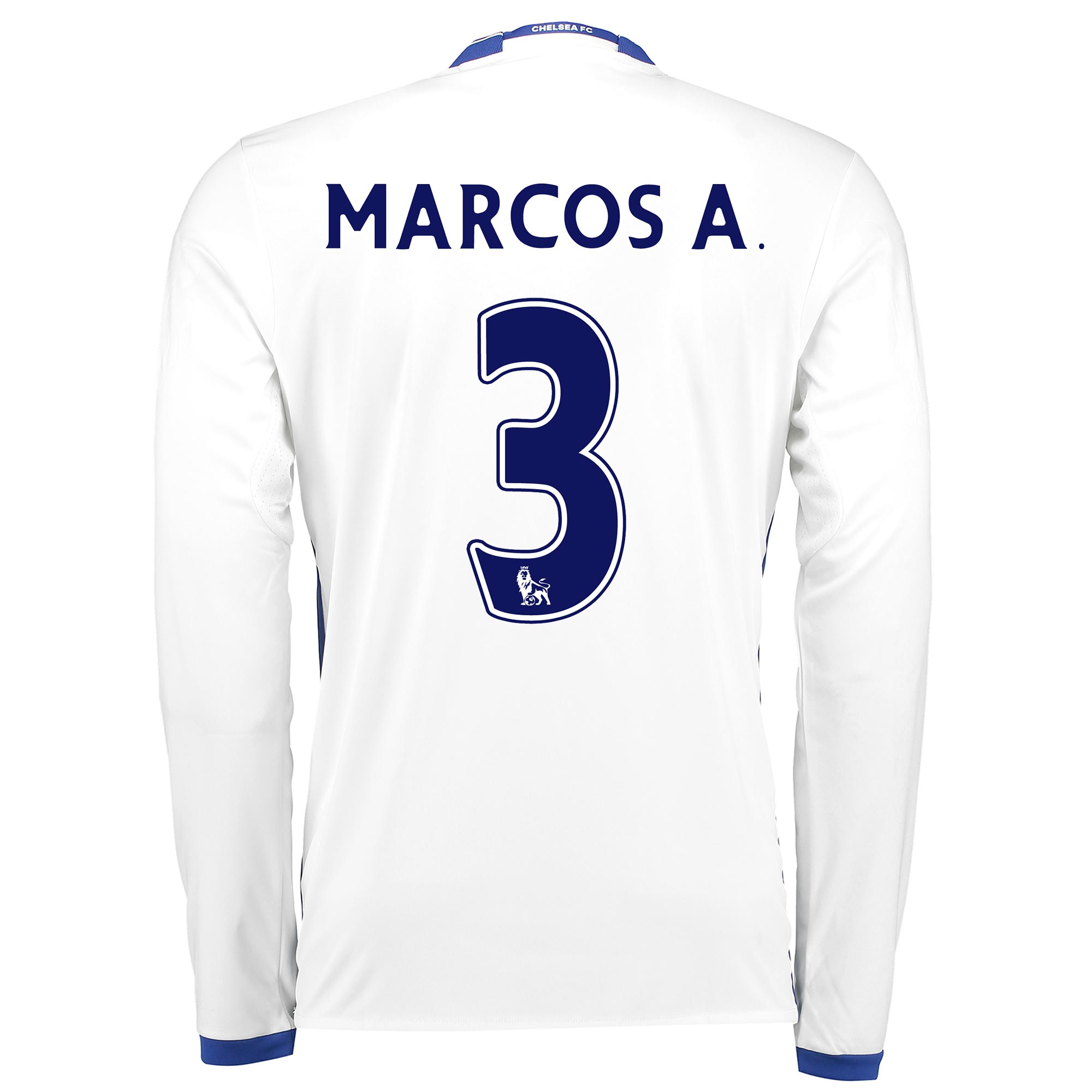 Chelsea Third Shirt 16-17 - Long Sleeve with Marcos A. 3 printing