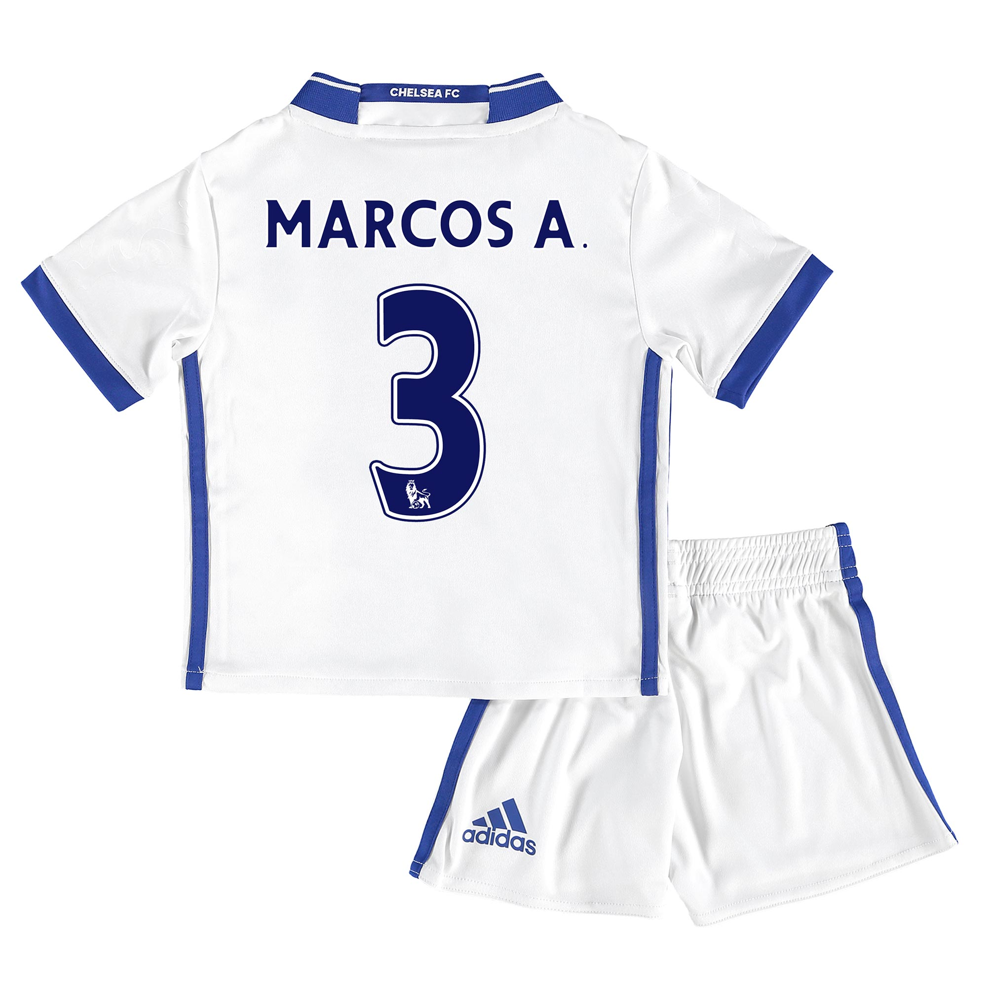 Chelsea Third Mini Kit 16-17 with Marcos A. 3 printing