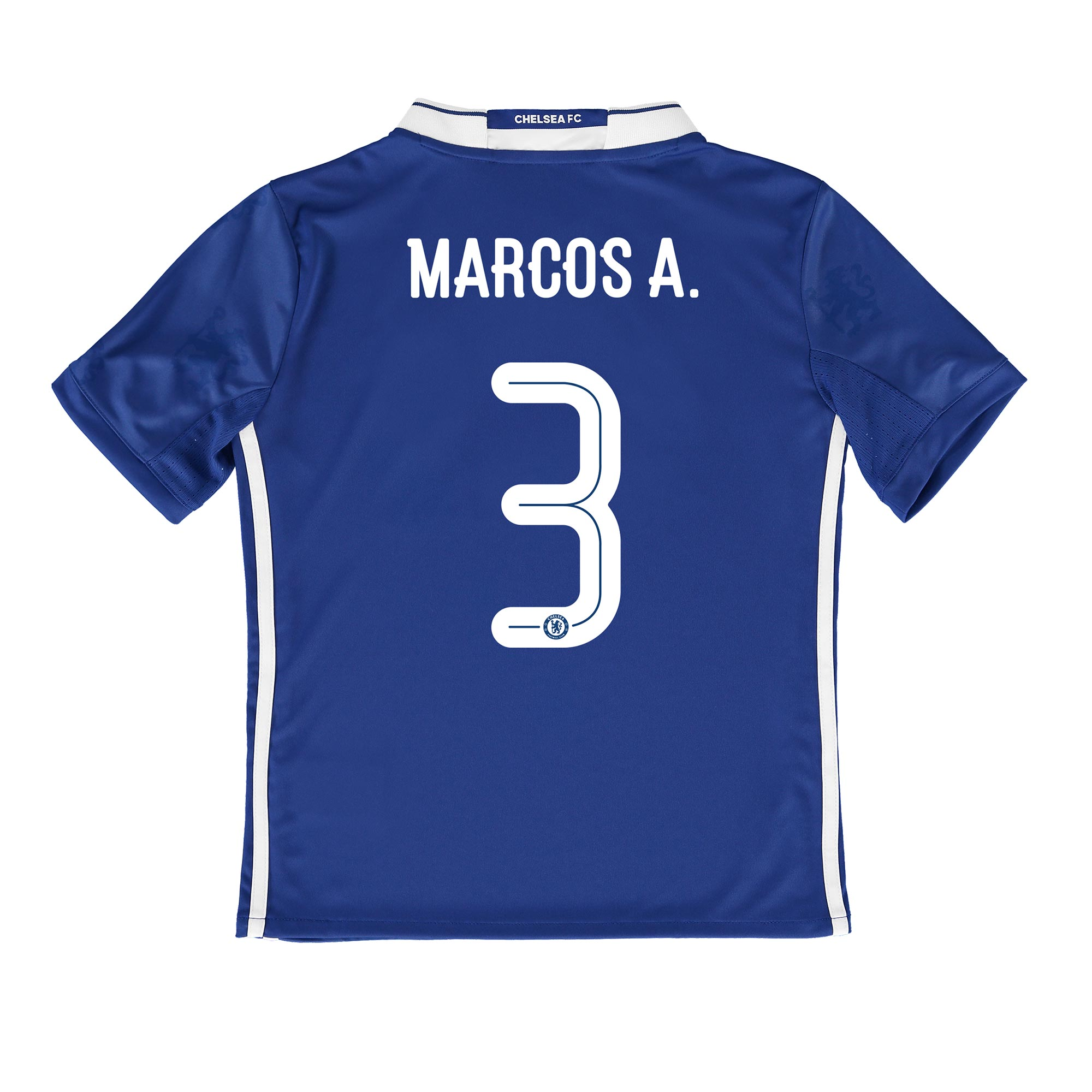 Chelsea Linear Home Shirt 2016-17 - Kids with Marcos A. 3 printing