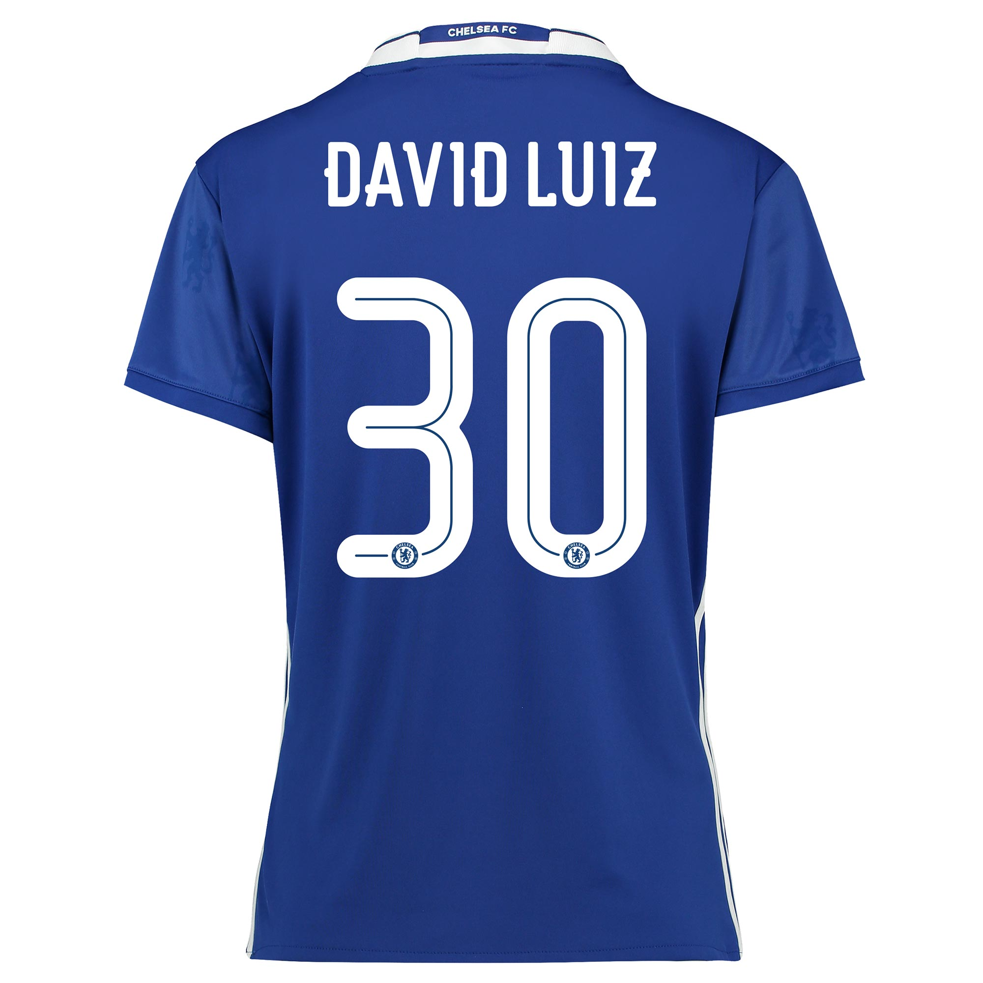 Chelsea Linear Home Shirt 2016-17 - Womens Fit with David Luiz 30 prin