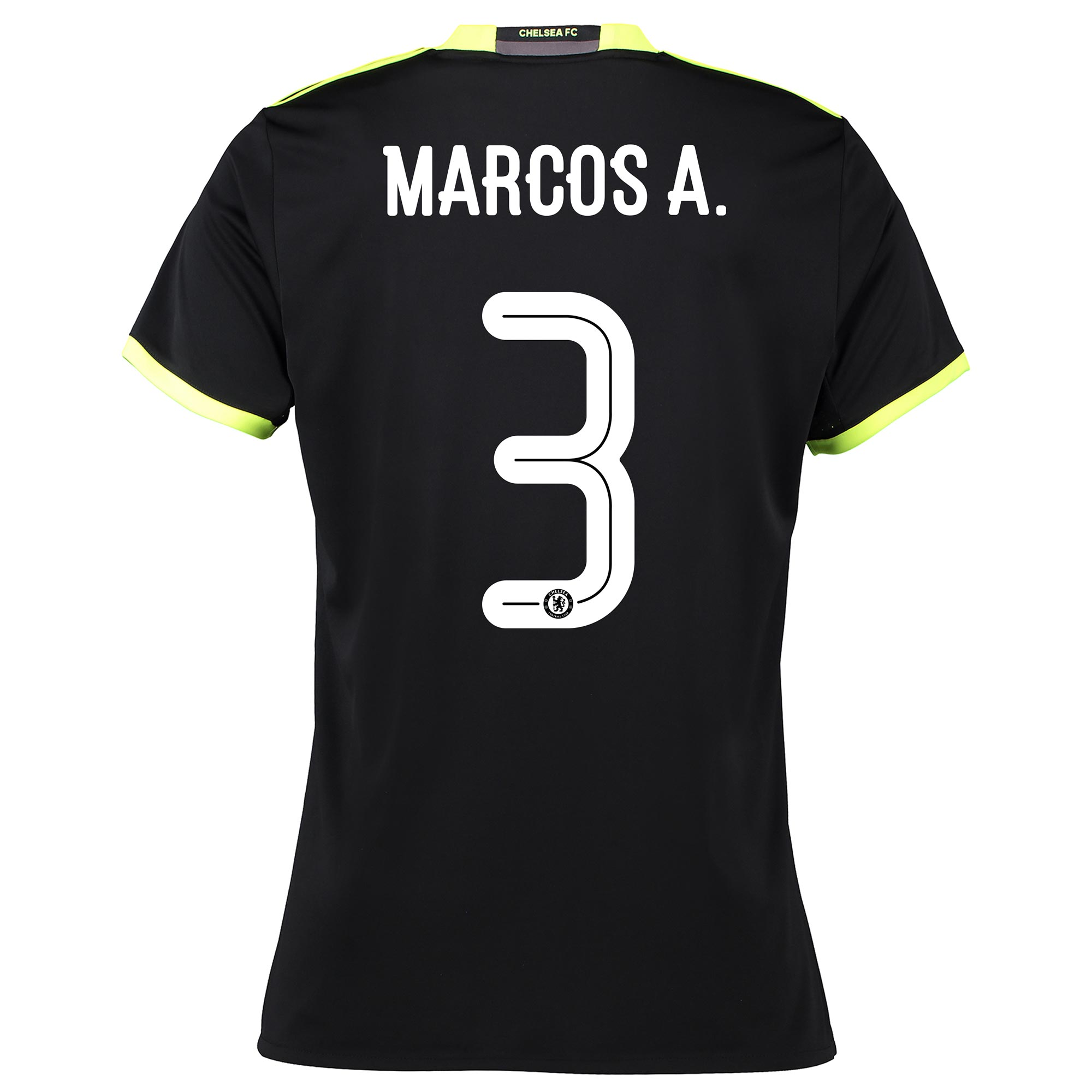 Chelsea Linear Away Shirt 16-17 - Womens with Marcos A. 3 printing