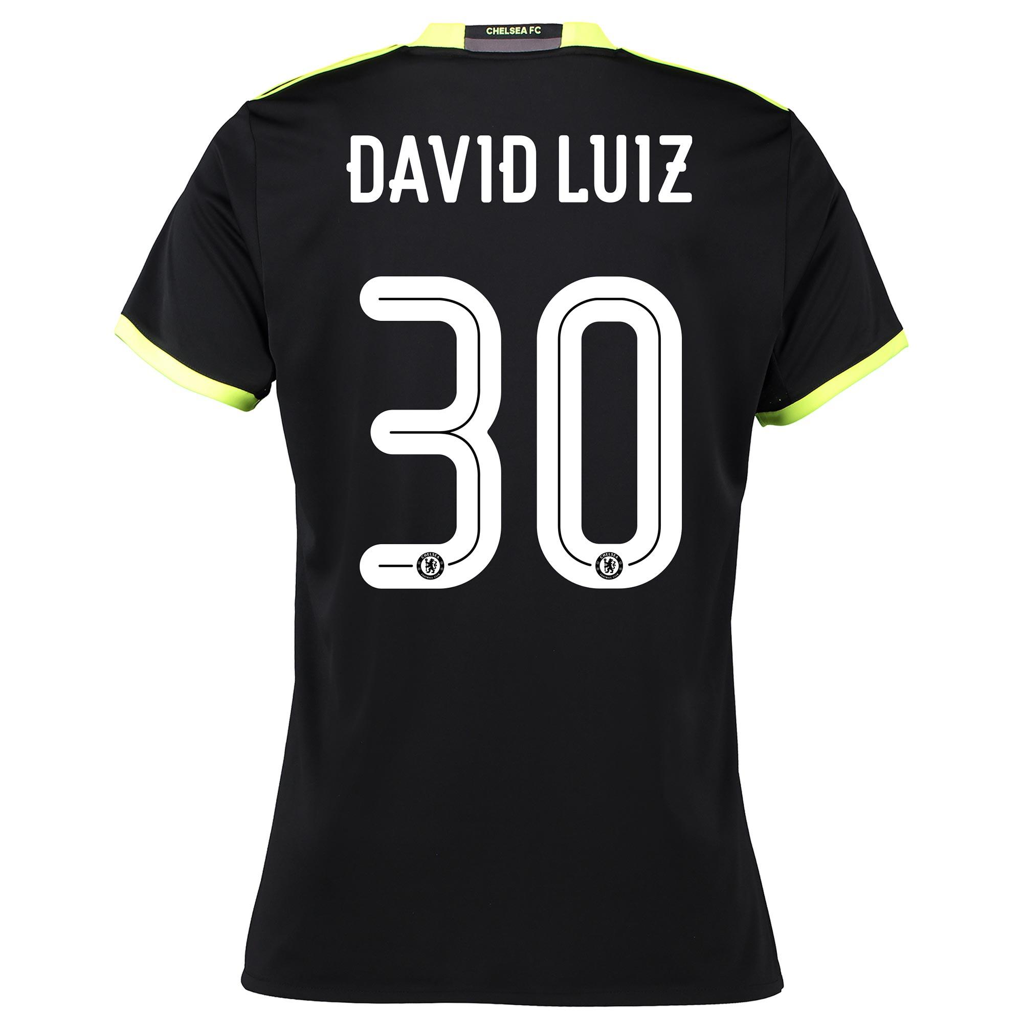 Chelsea Linear Away Shirt 16-17 - Womens with David Luiz 30 printing