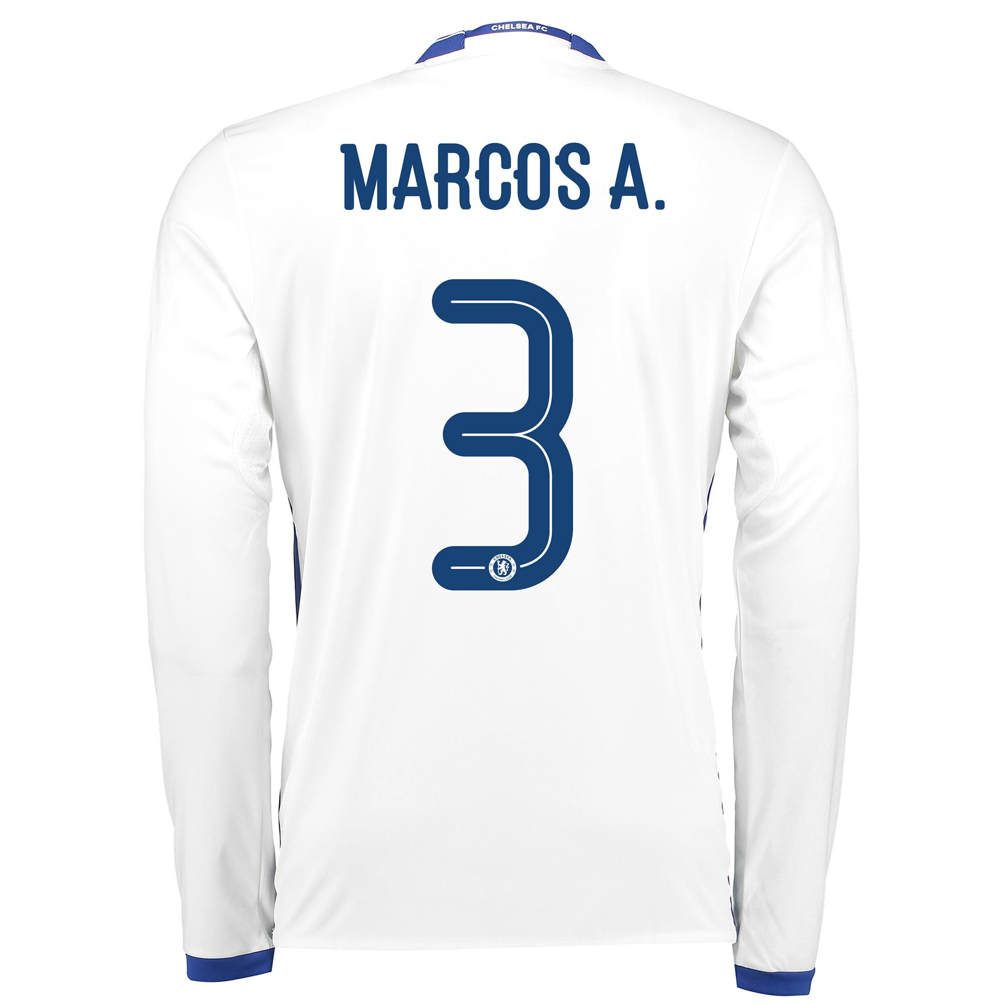 Chelsea Linear Third Shirt 16-17 - Long Sleeve with Marcos A. 3 printi