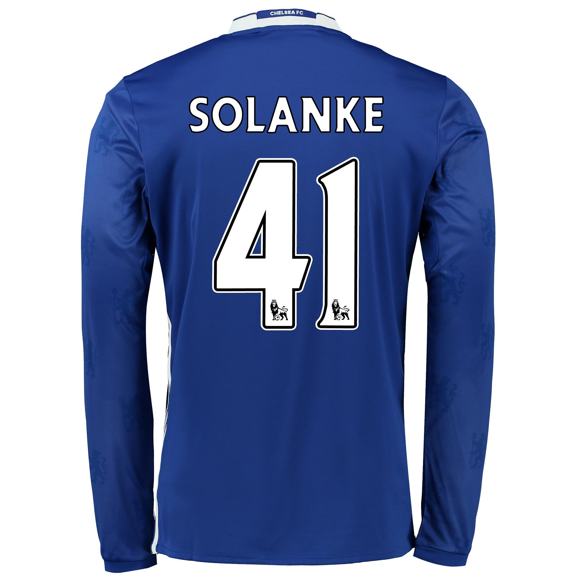 Chelsea Home Shirt 2016-17 - Kids - Long Sleeve with Solanke 41 printi