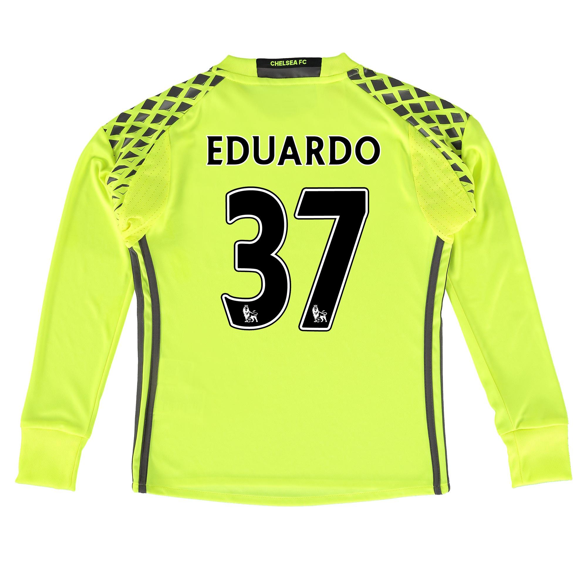 Chelsea Goalkeeper Shirt 16-17 - Kids with Eduardo 37 printing