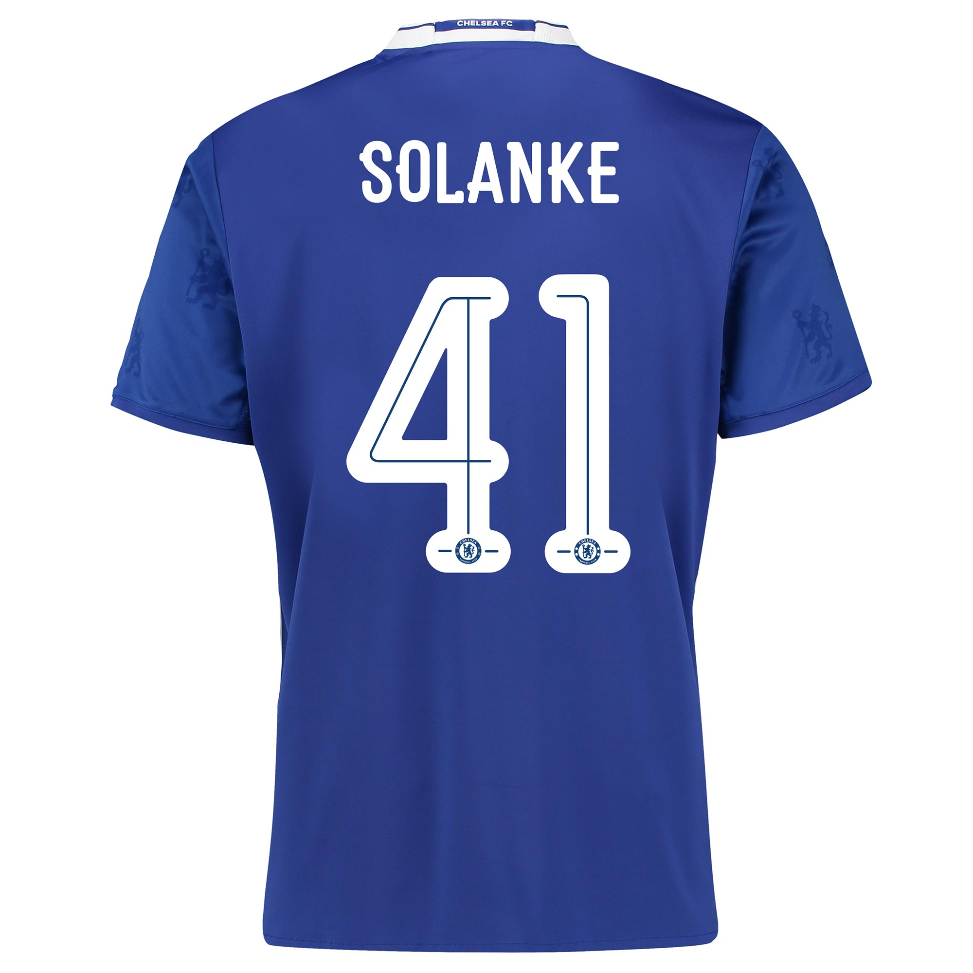 Chelsea Linear Home Shirt 2016-17 with Solanke 41 printing
