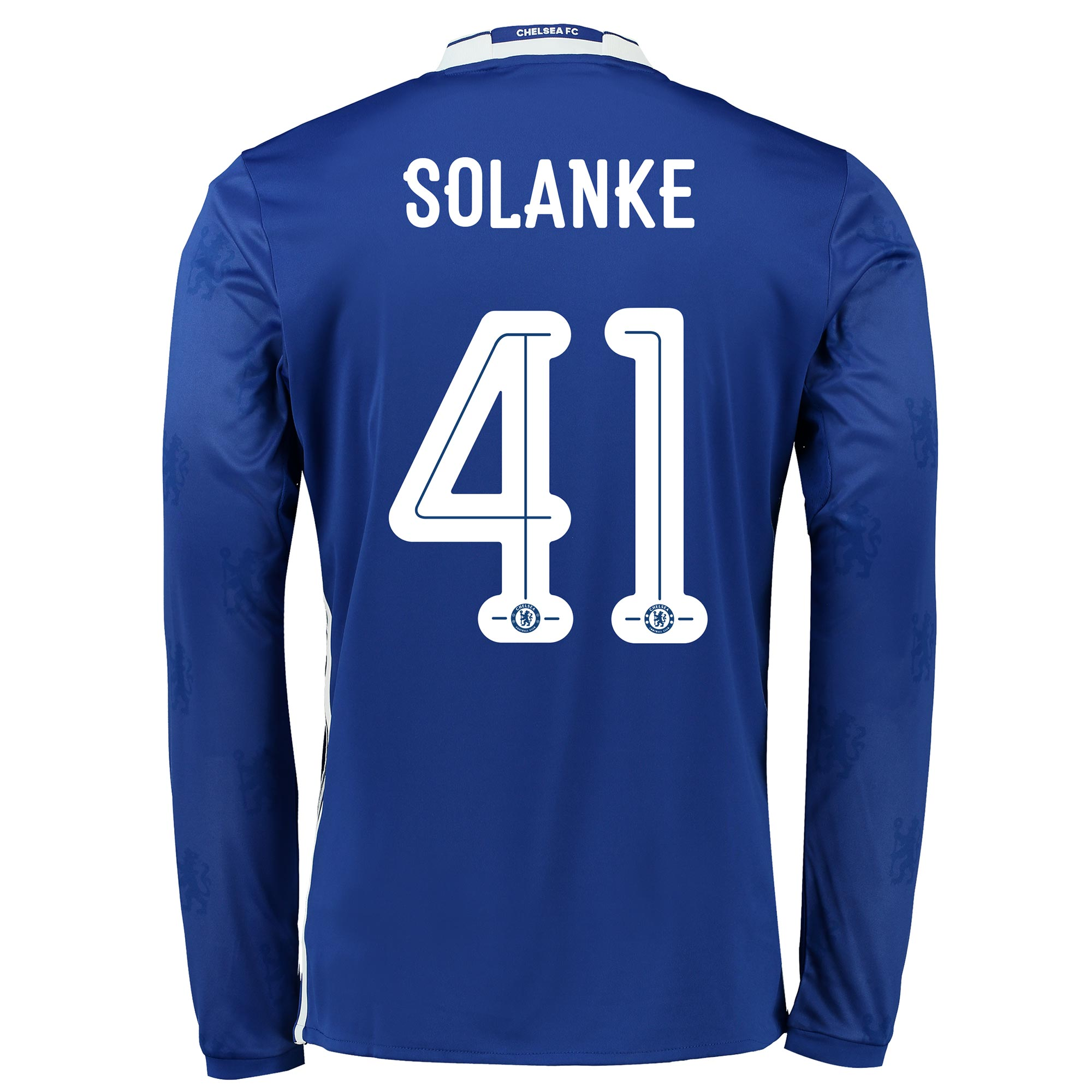 Chelsea Linear Home Shirt 2016-17 - Kids - Long Sleeve with Solanke 41