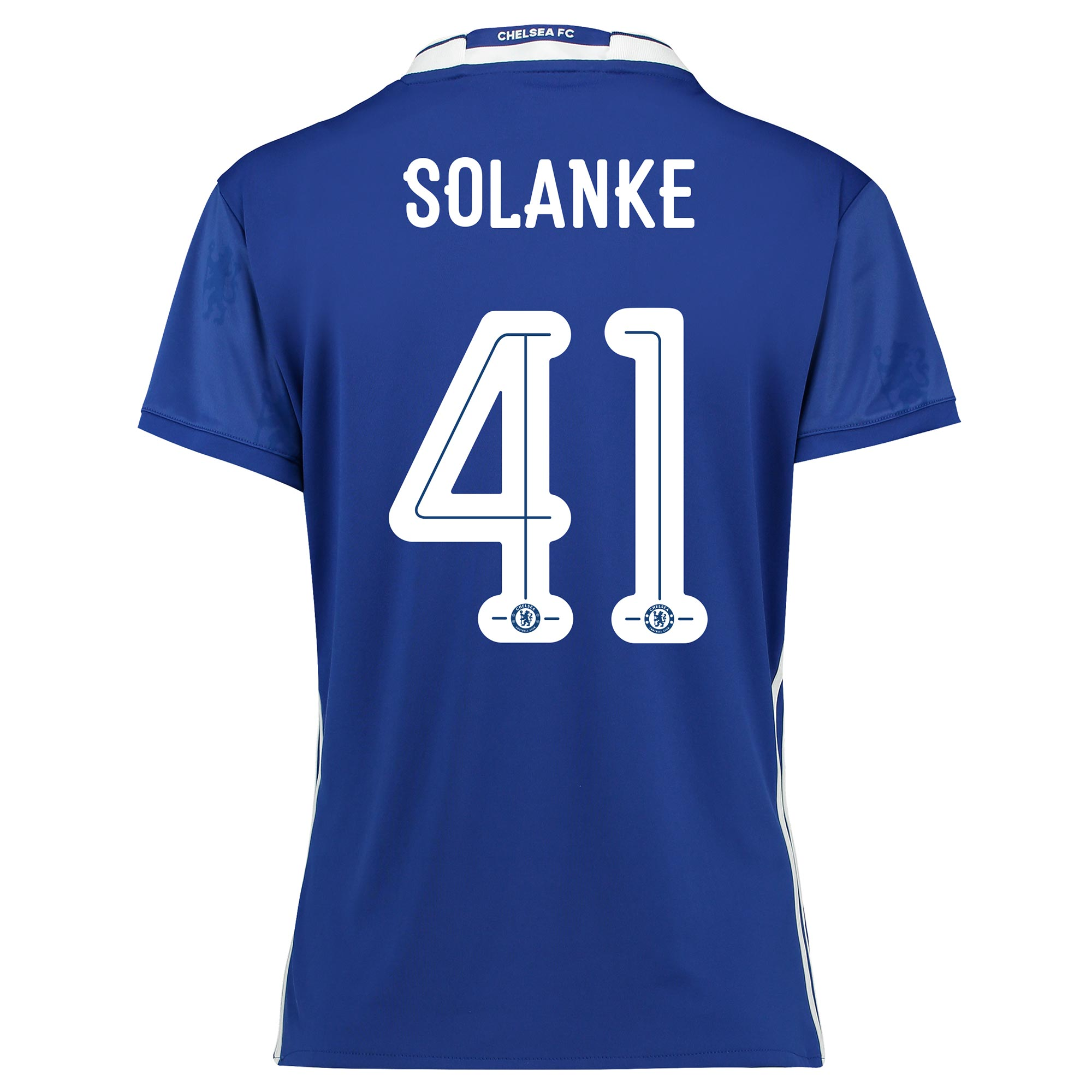 Chelsea Linear Home Shirt 2016-17 - Womens Fit with Solanke 41 printin