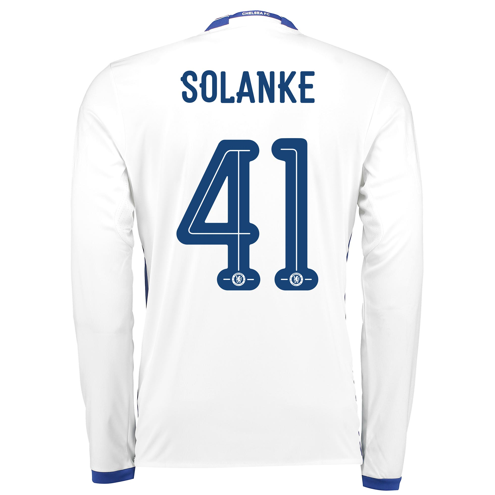 Chelsea Linear Third Shirt 16-17 - Long Sleeve with Solanke 41 printin