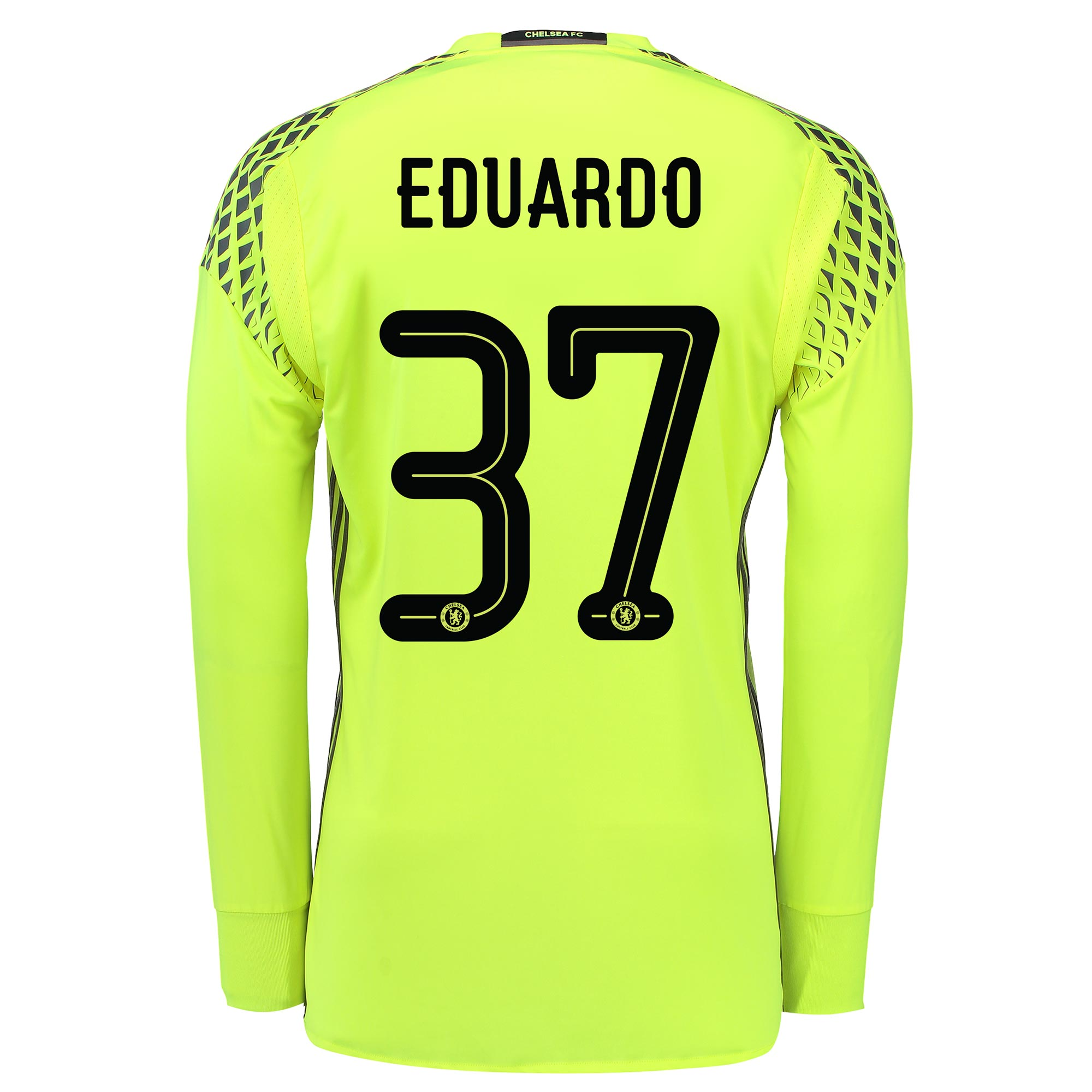 Chelsea Linear Goalkeeper Shirt 16-17 with Eduardo 37 printing