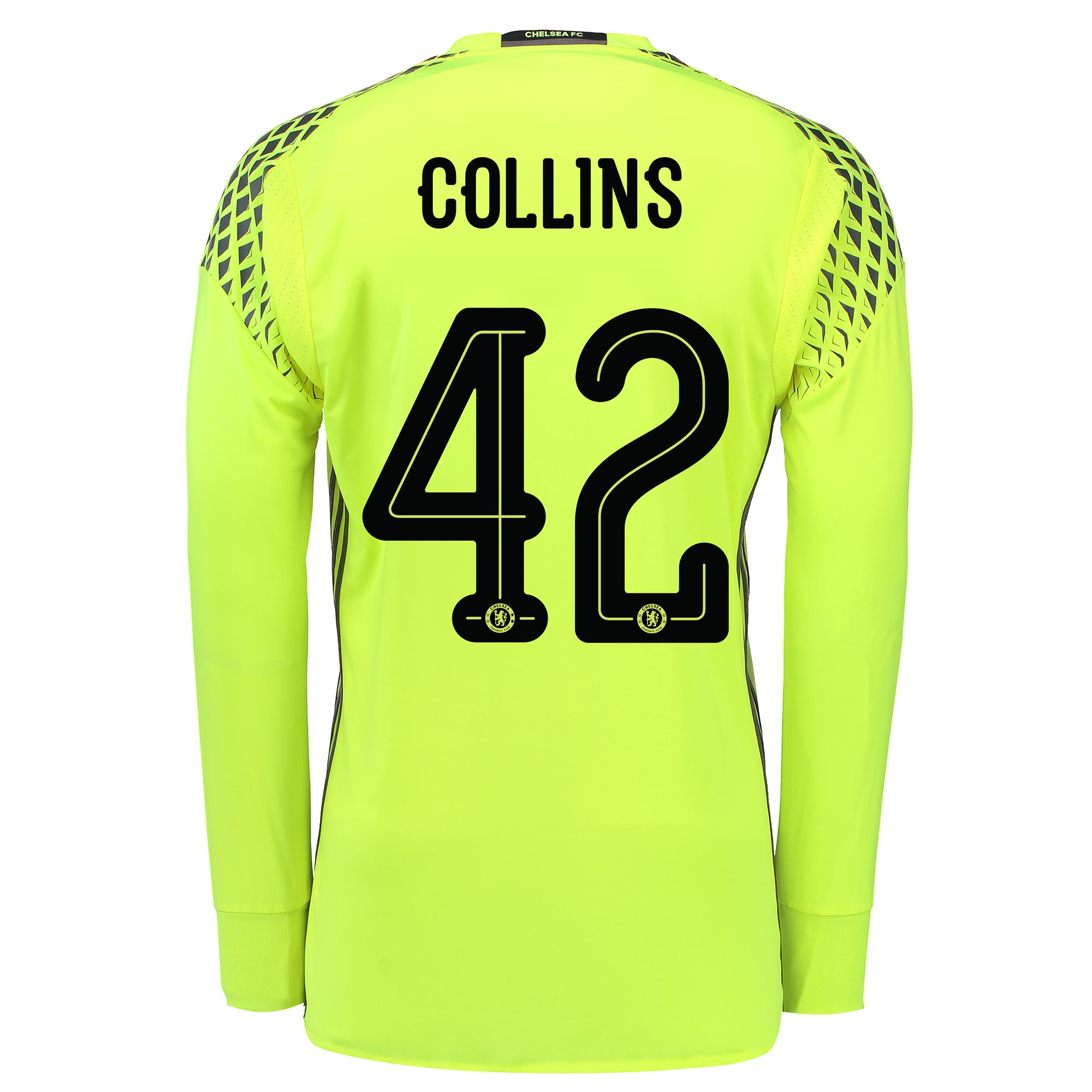 Chelsea Linear Goalkeeper Shirt 16-17 with Collins 42 printing