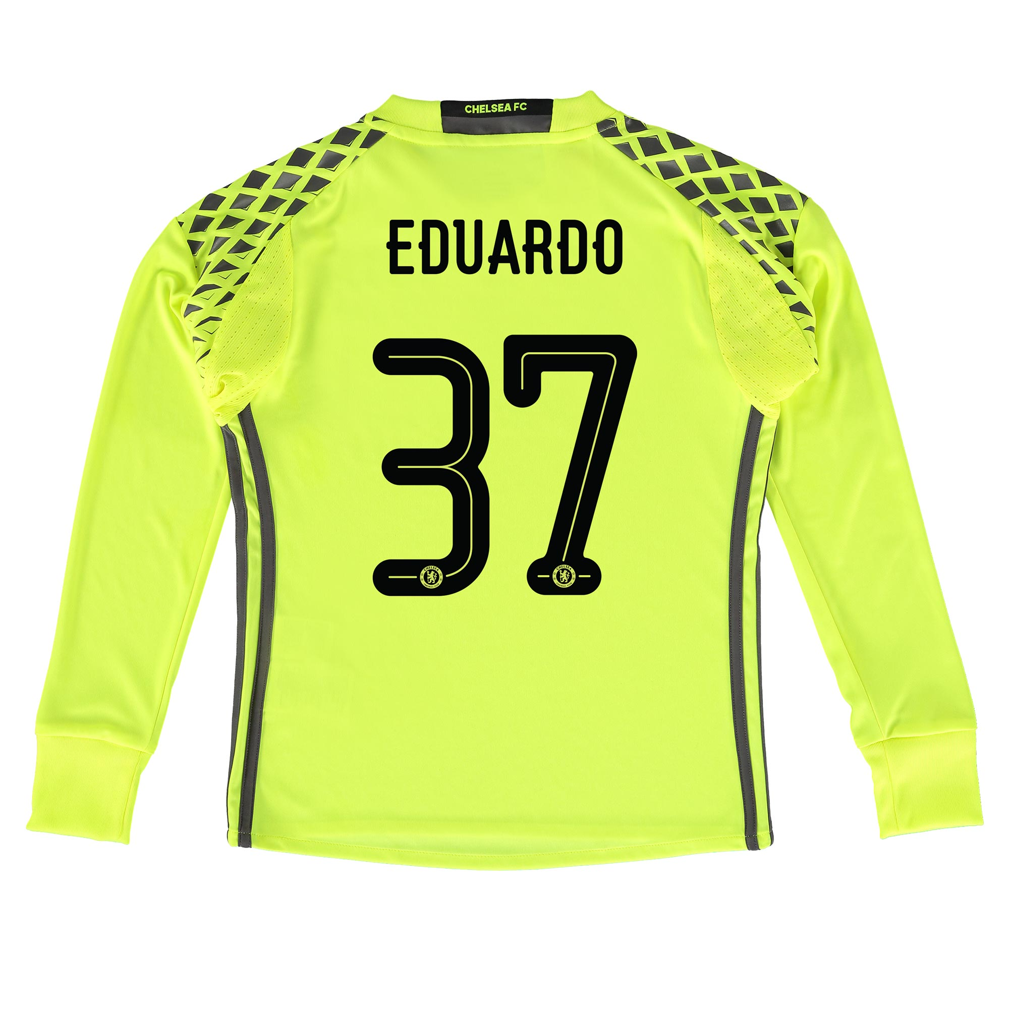 Chelsea Linear Goalkeeper Shirt 16-17 - Kids with Eduardo 37 printing