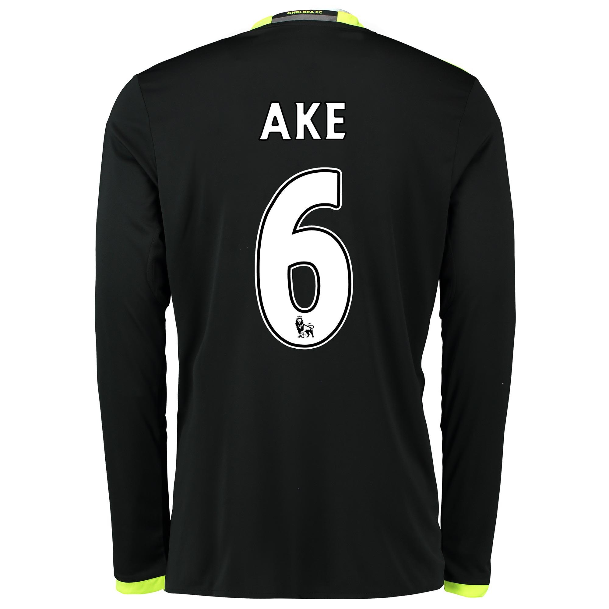 Chelsea Away Shirt 16-17 - Long Sleeve with Ake 6 printing