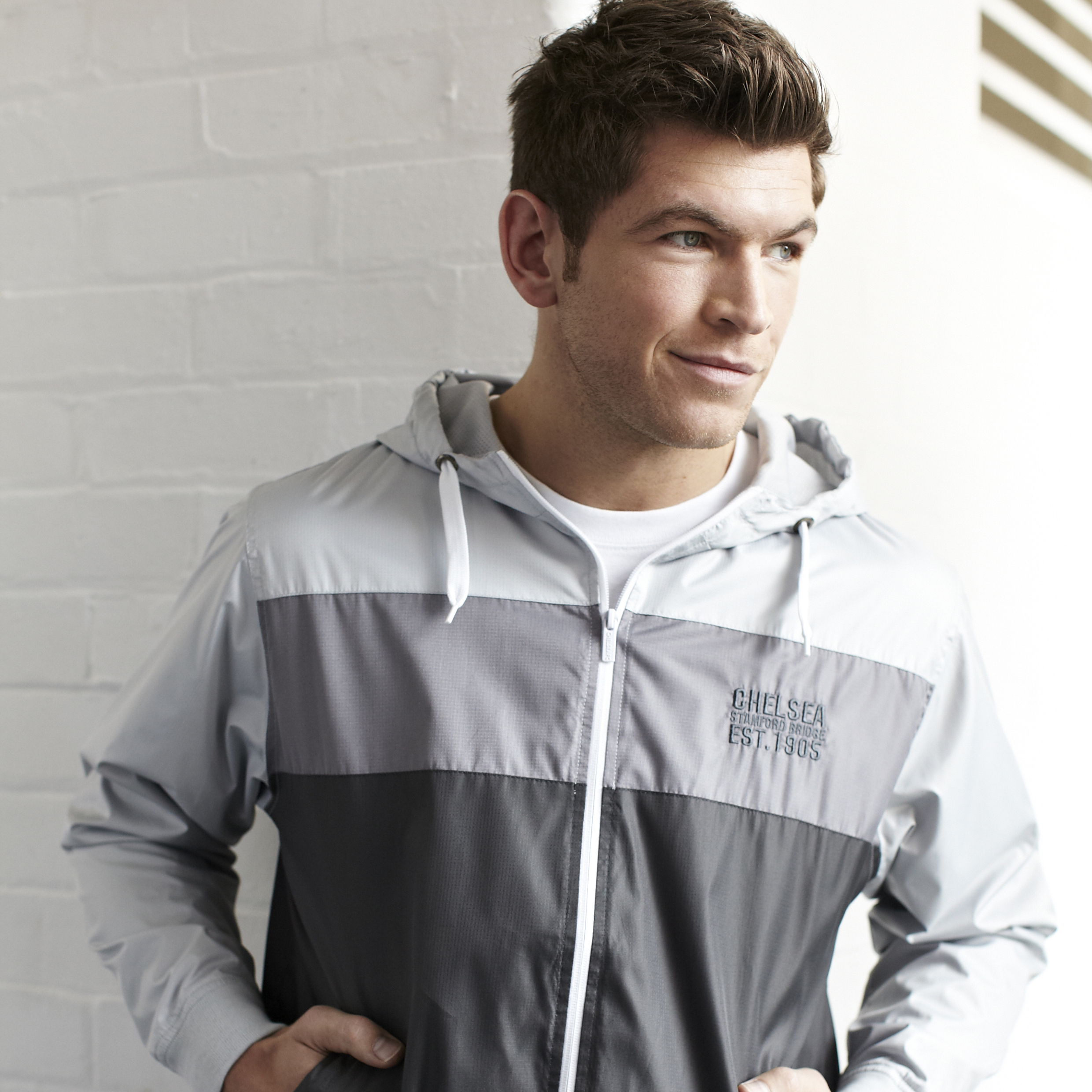 Chelsea Classic Panelled Shower Jacket - Carbon - Mens
