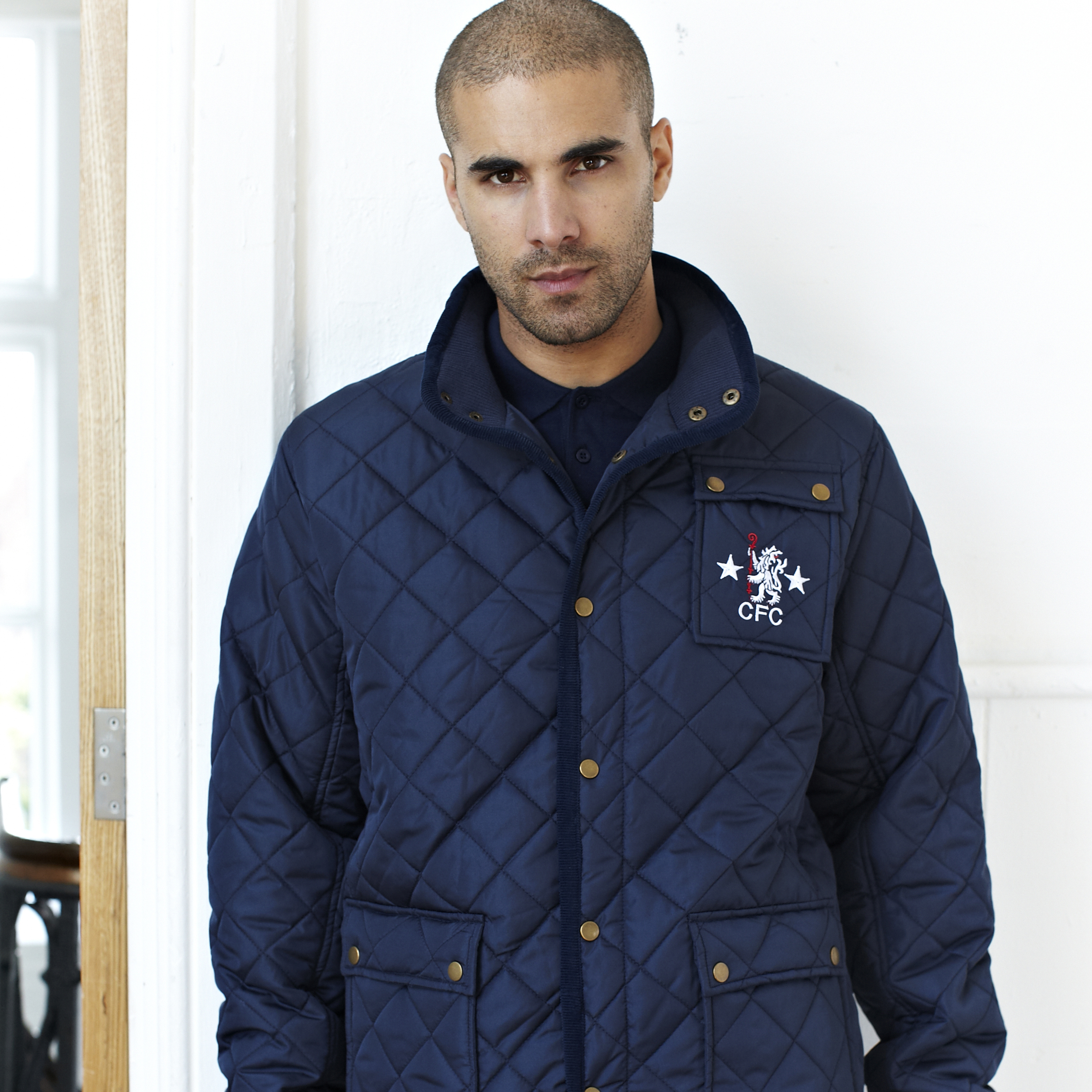 Chelsea Retro Quilted Jacket - OT Navy - Mens