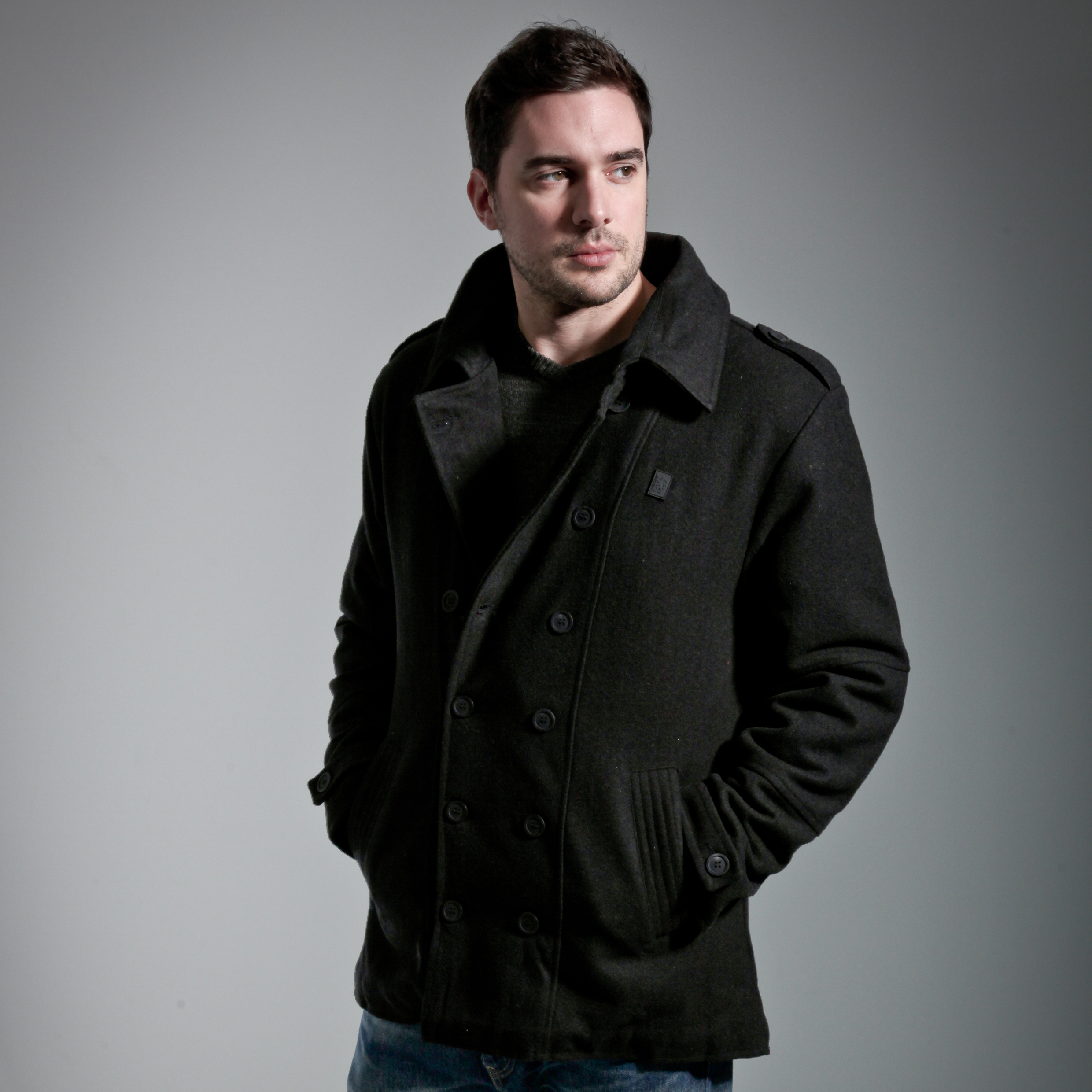 Chelsea Executive Military Jacket - Black - Mens