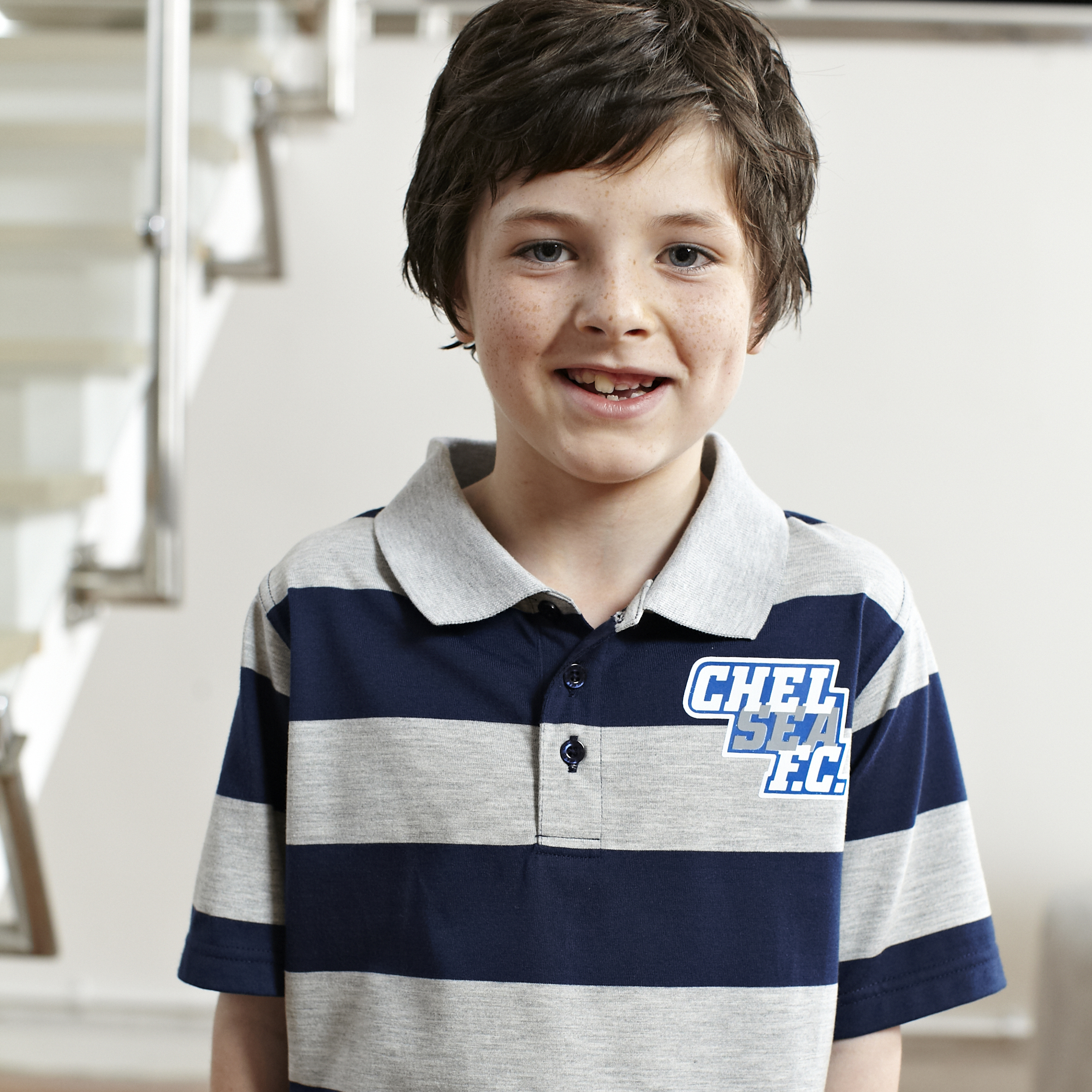 Chelsea Yarn Dye Stripe Polo - OT Navy - Older Boys