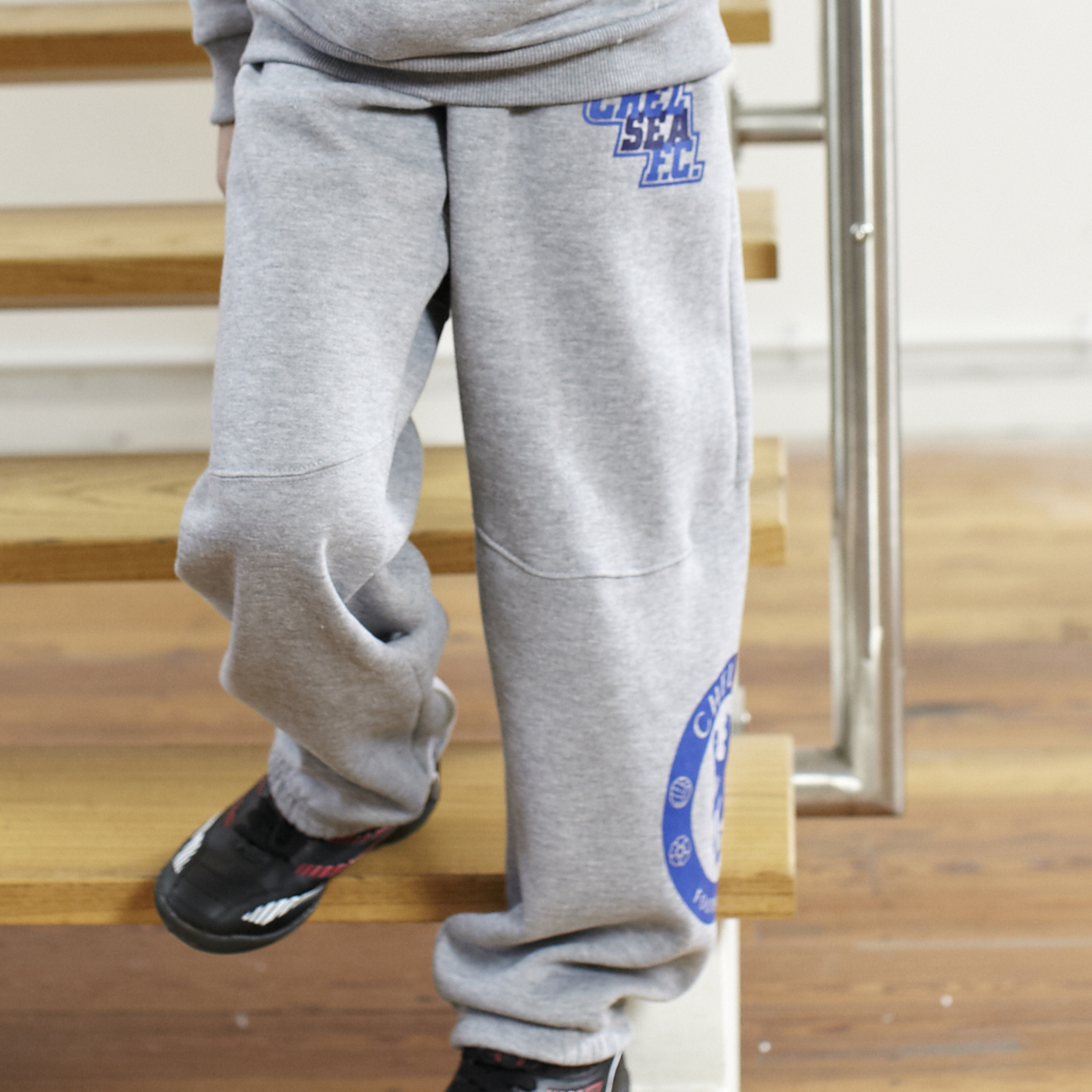 Chelsea Paneled Jog Pants - Grey Marl - Older Boys