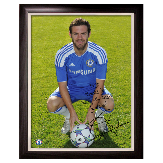 Photography, Prints & Posters|Chelsea Chelsea Personalised Juan Mata Photocall 1 Poster - Framed