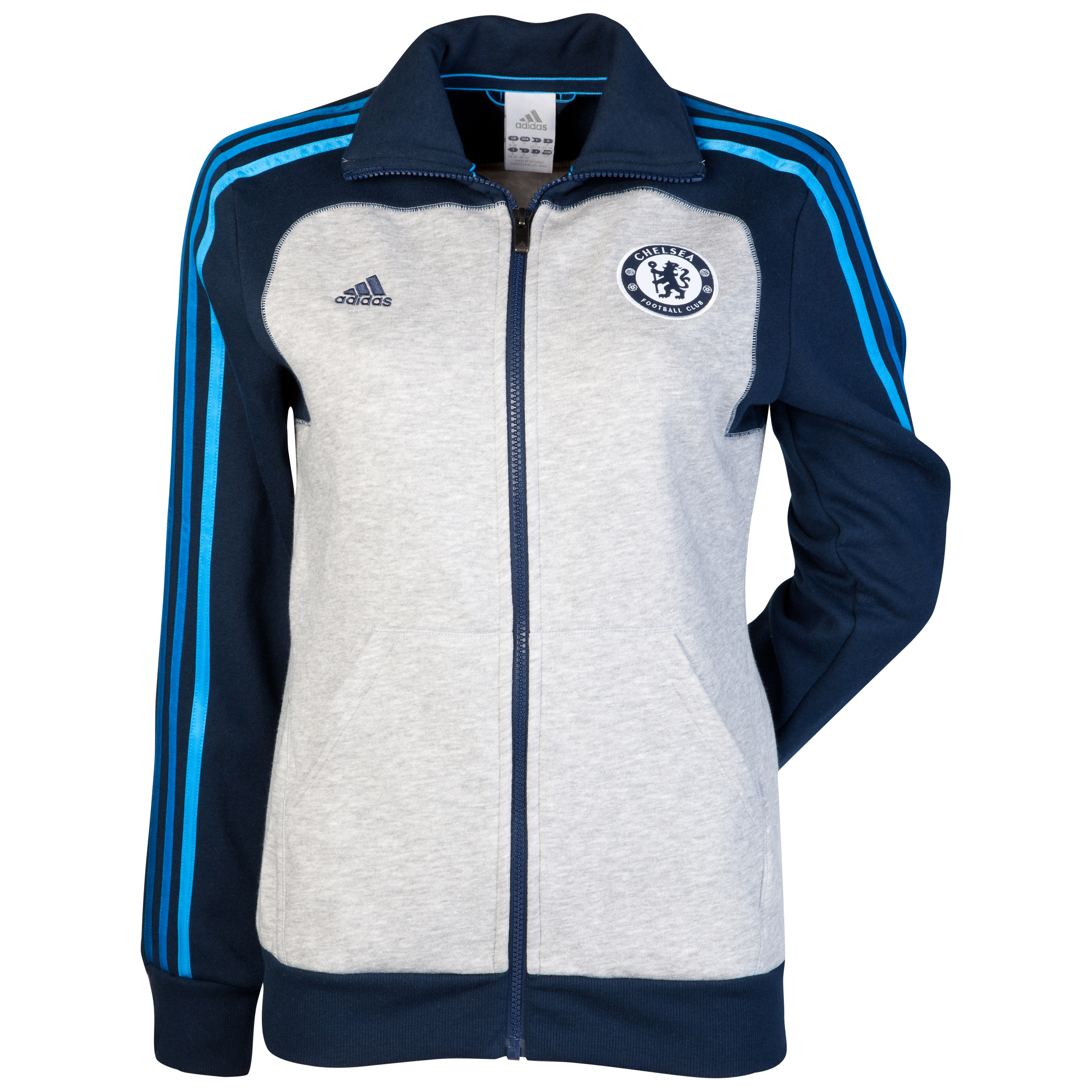 adidas Chelsea Core Track Top - Collegiate Navy/Medium Grey Heather/Cyan - Womens