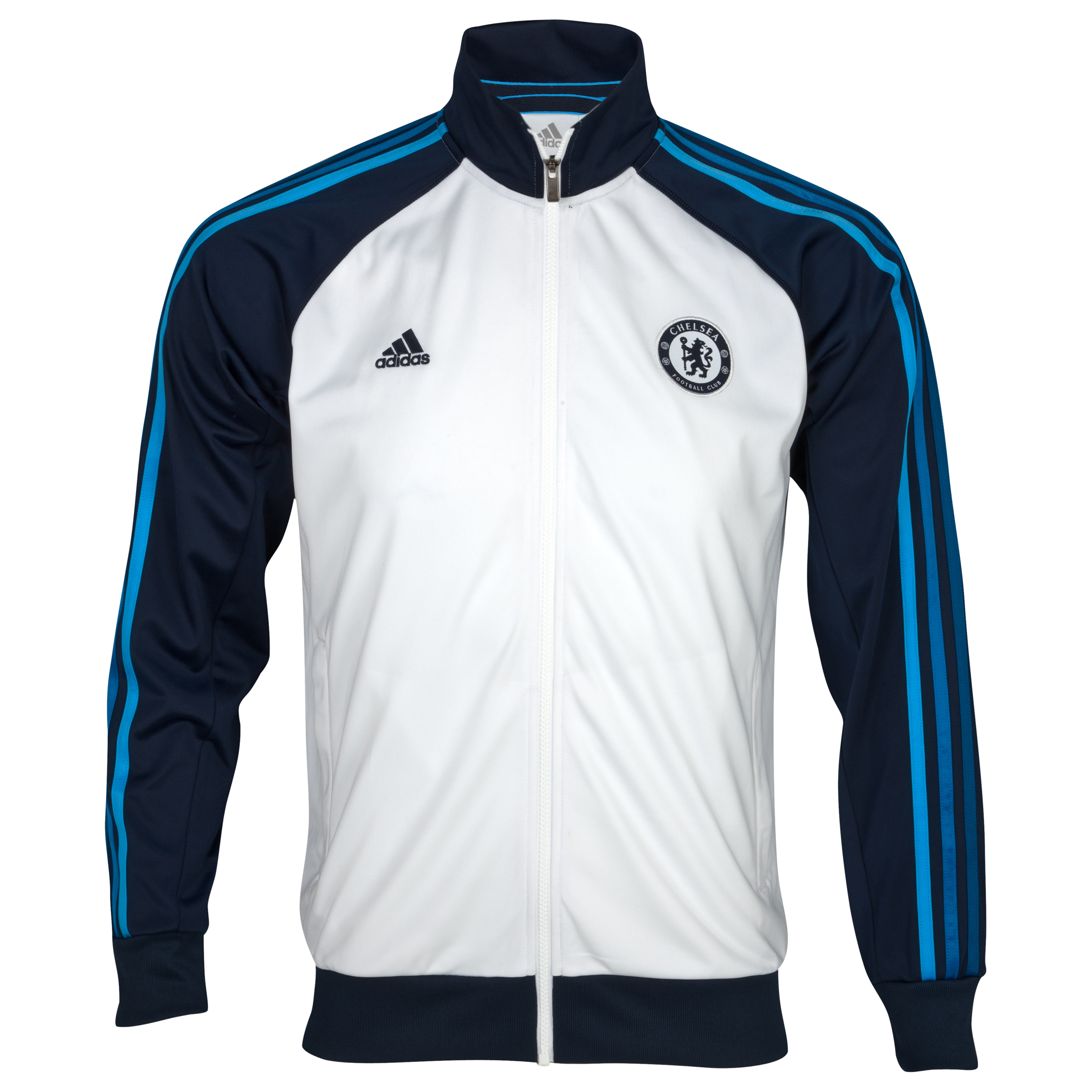 adidas Chelsea Core Track Top - Collegiate Navy/White/Cyan - Youths