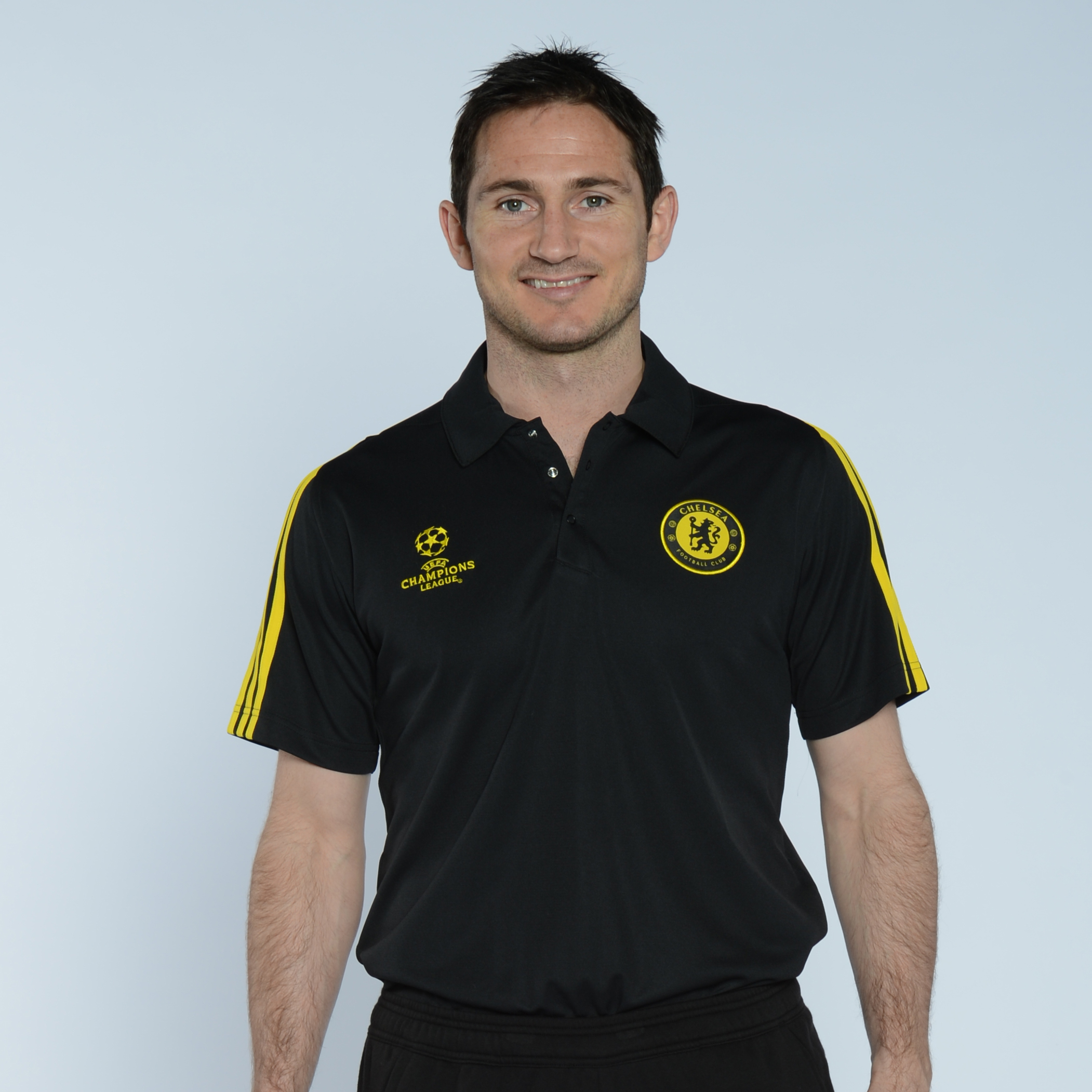 adidas Chelsea UCL Training Polo - Black/Sun