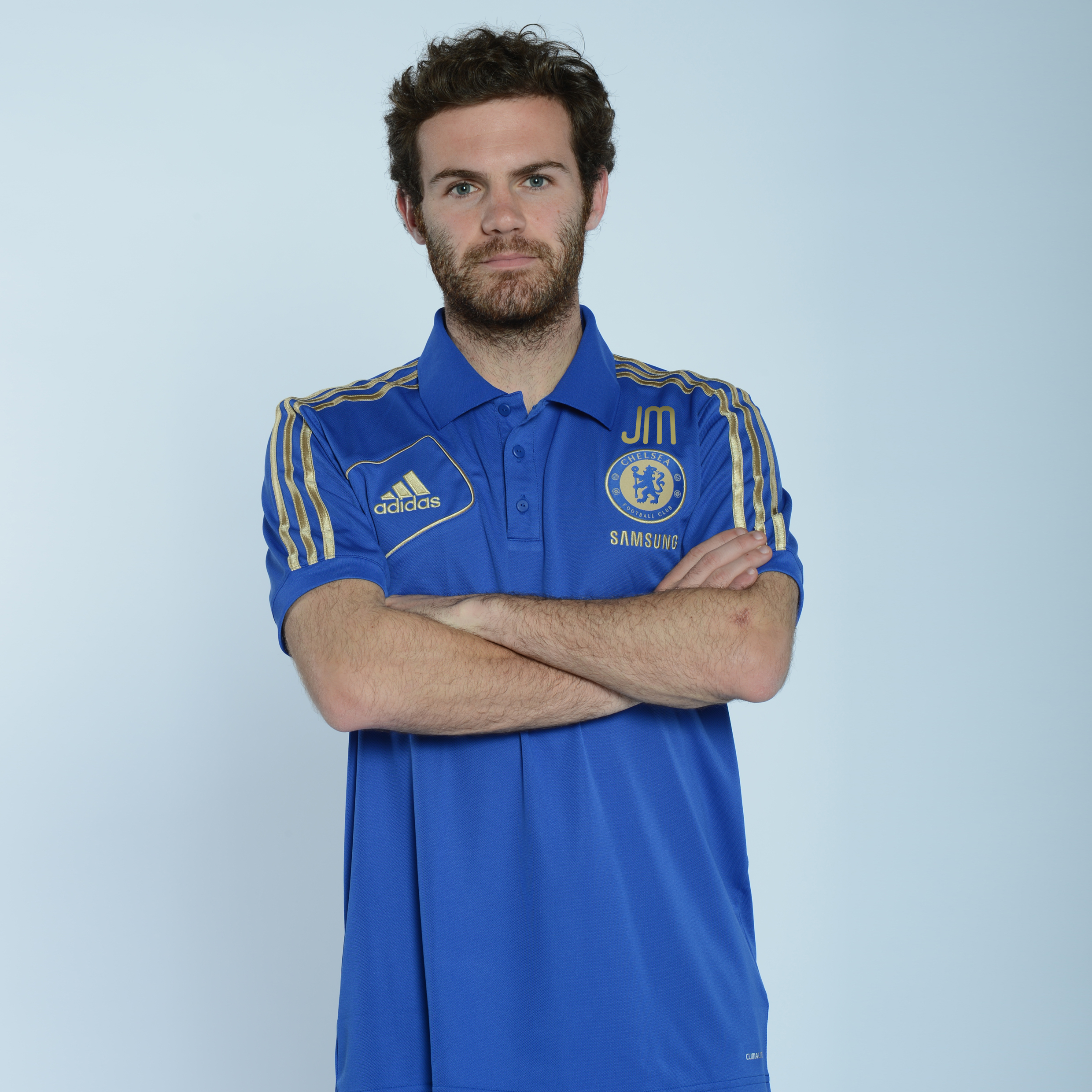 adidas Chelsea Training Polo - Reflex Blue/Light Football Gold