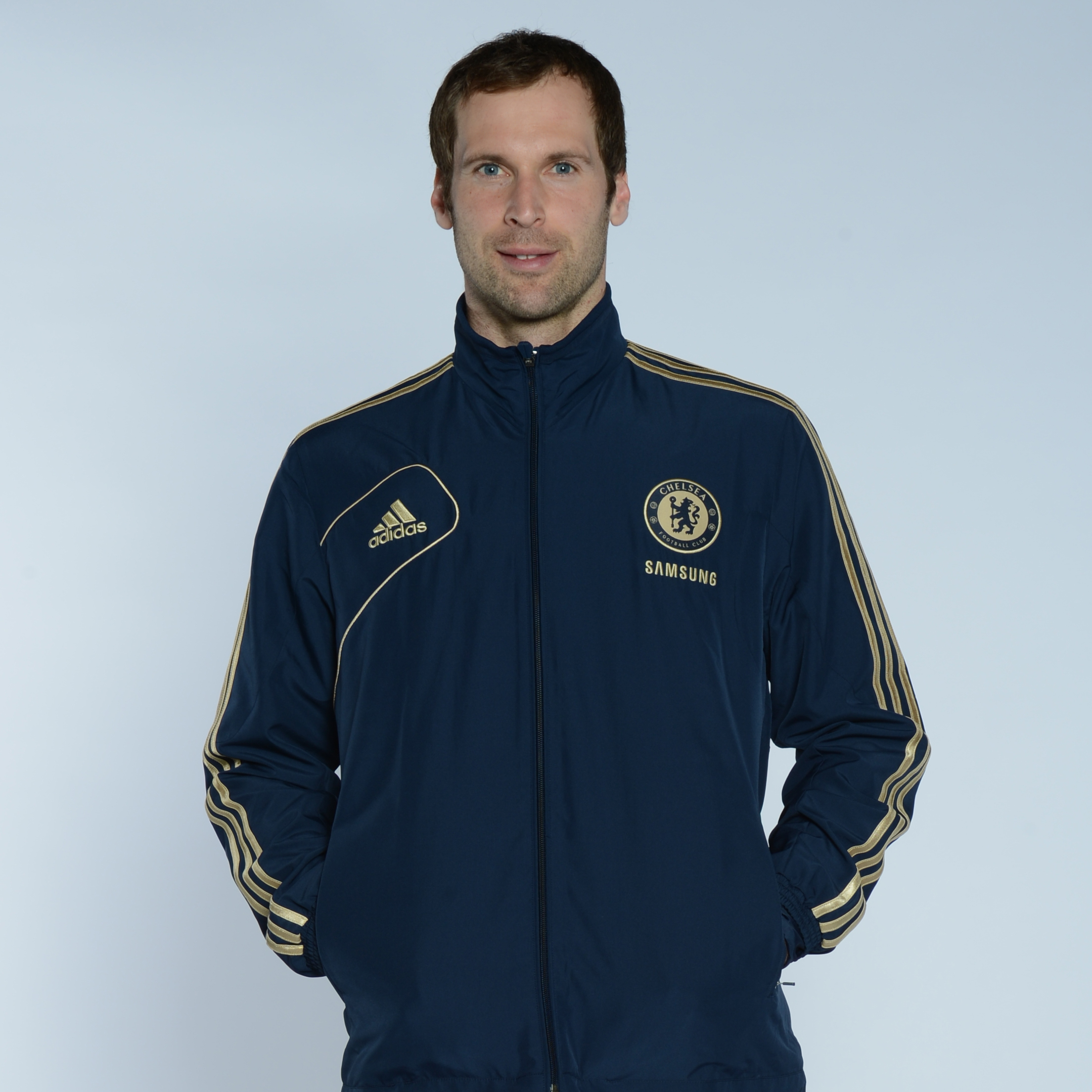 Chelsea Training Presentation Jacket - Collegiate Navy/Light Football Gold