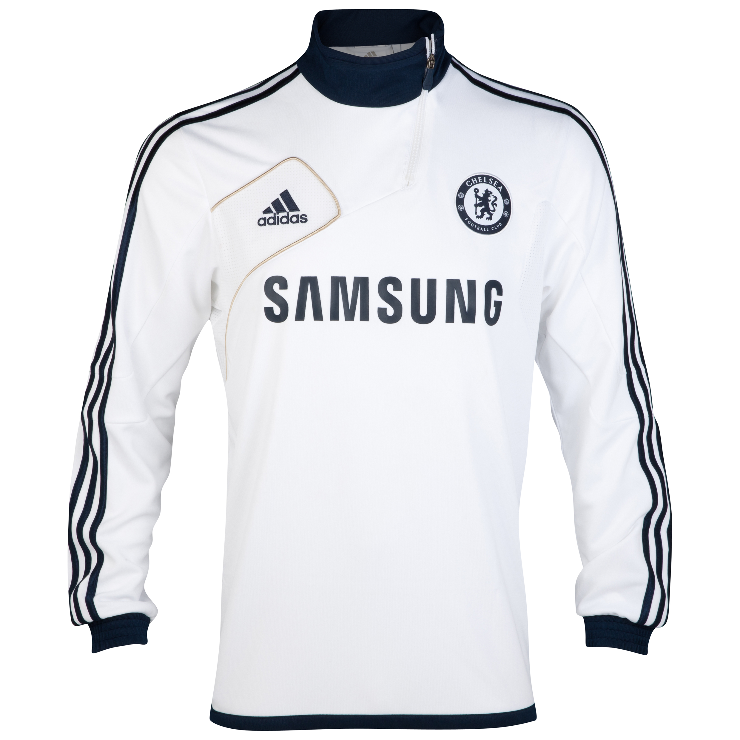 Chelsea Training Top - White/Collegiate Navy/Light Football Gold