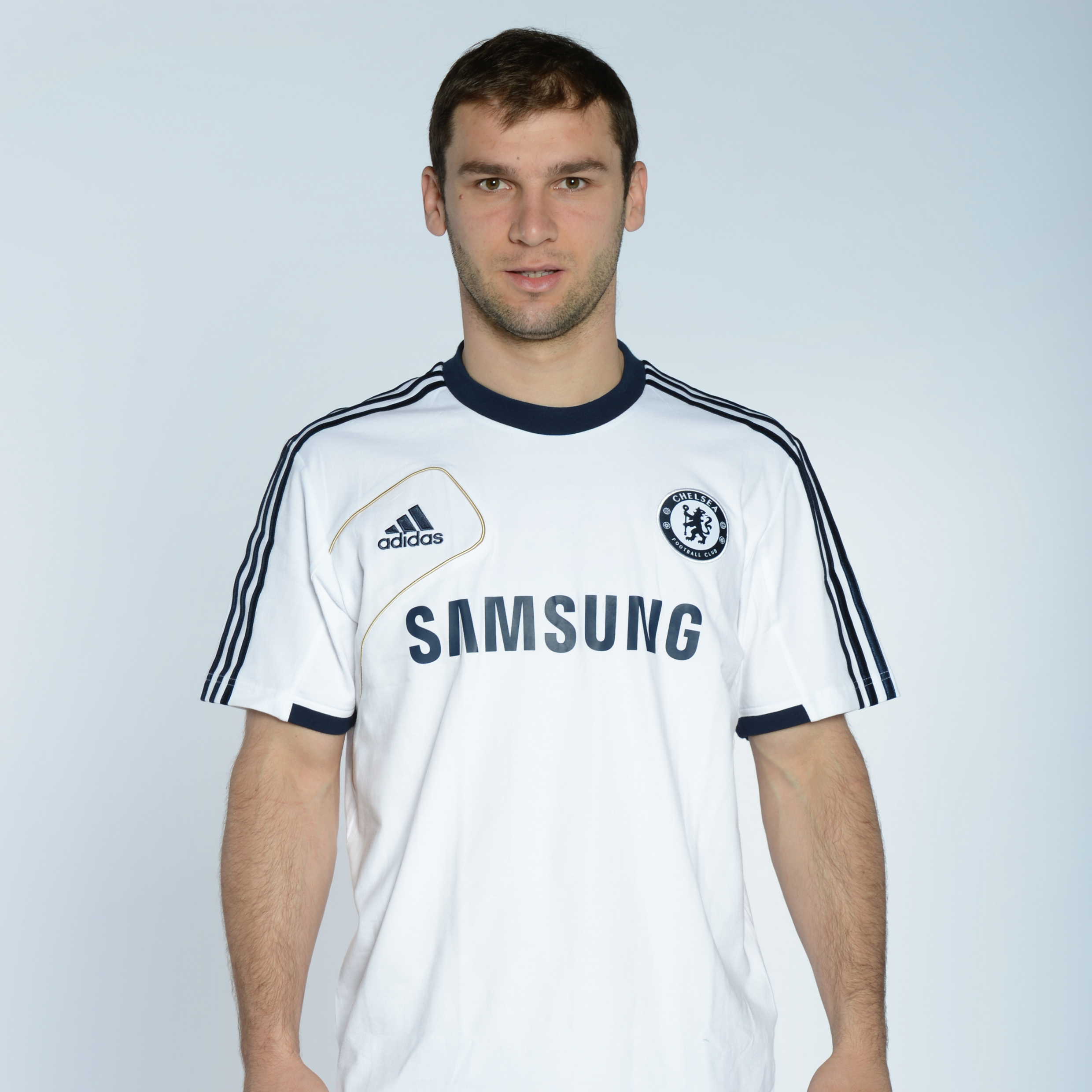 adidas Chelsea Training Jersey - White/Collegiate Navy/Light Football Gold
