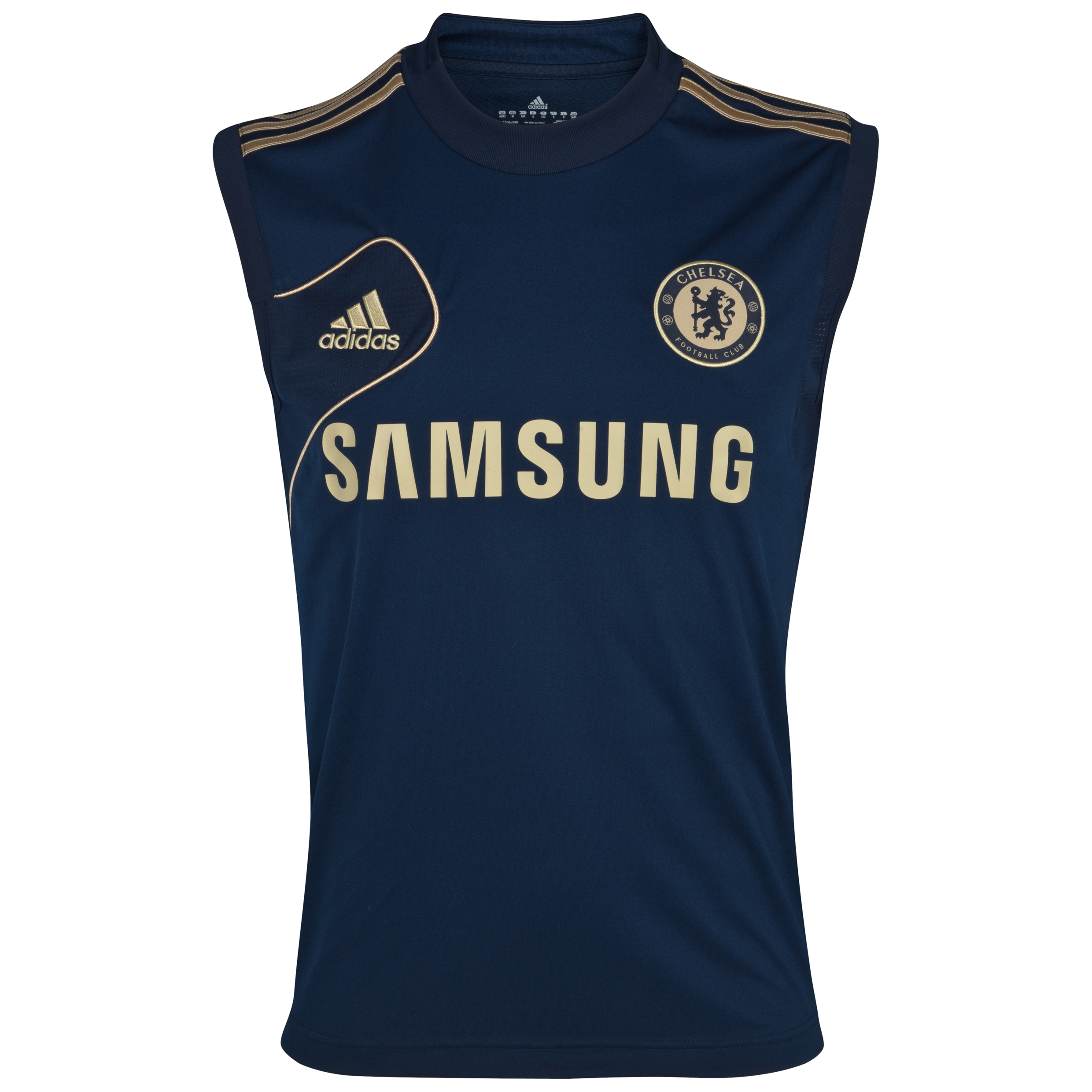 adidas Chelsea Training Sleeveless Jersey - Collegiate Navy/Light Football Gold