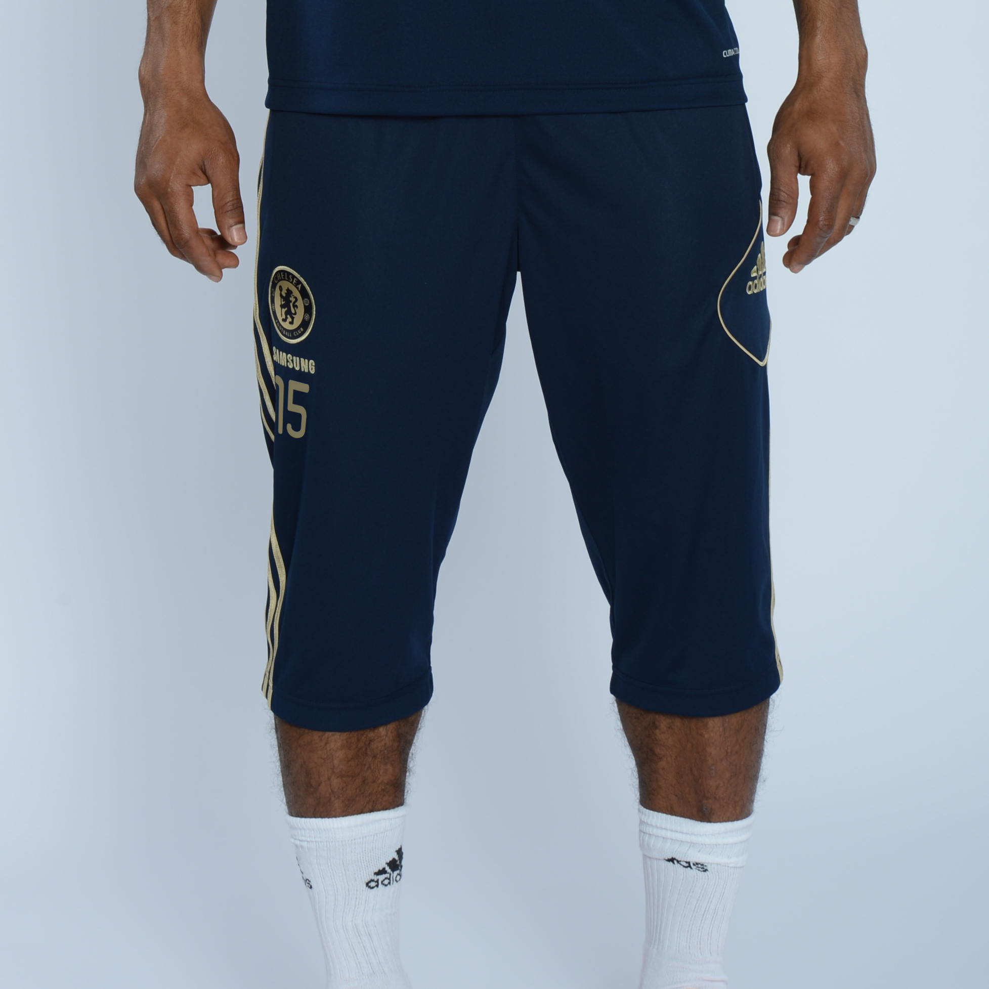 adidas Chelsea Training 3/4 Pant - Collegiate Navy/Light Football Gold