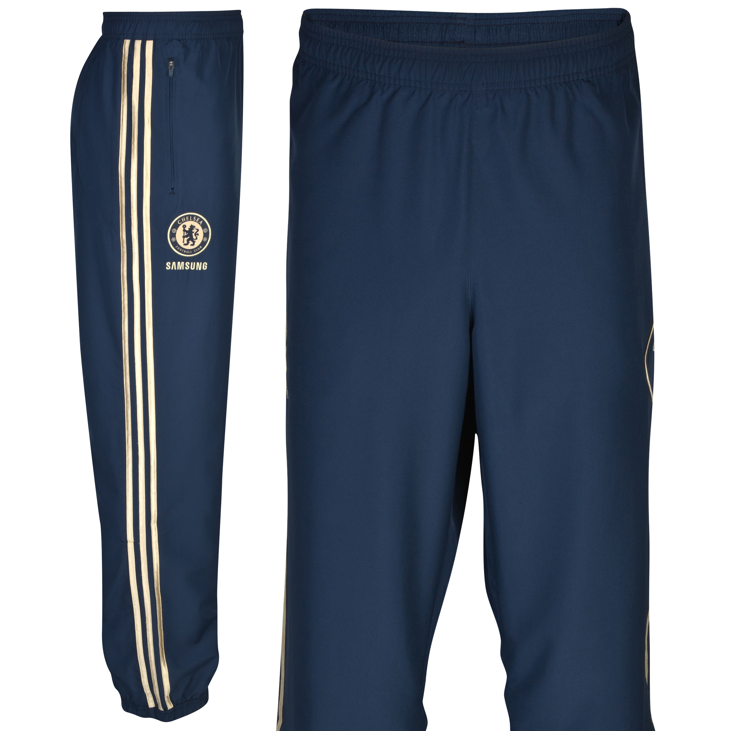 adidas Chelsea Training Presentation Pant - Collegiate Navy/Light Football Gold - Youths