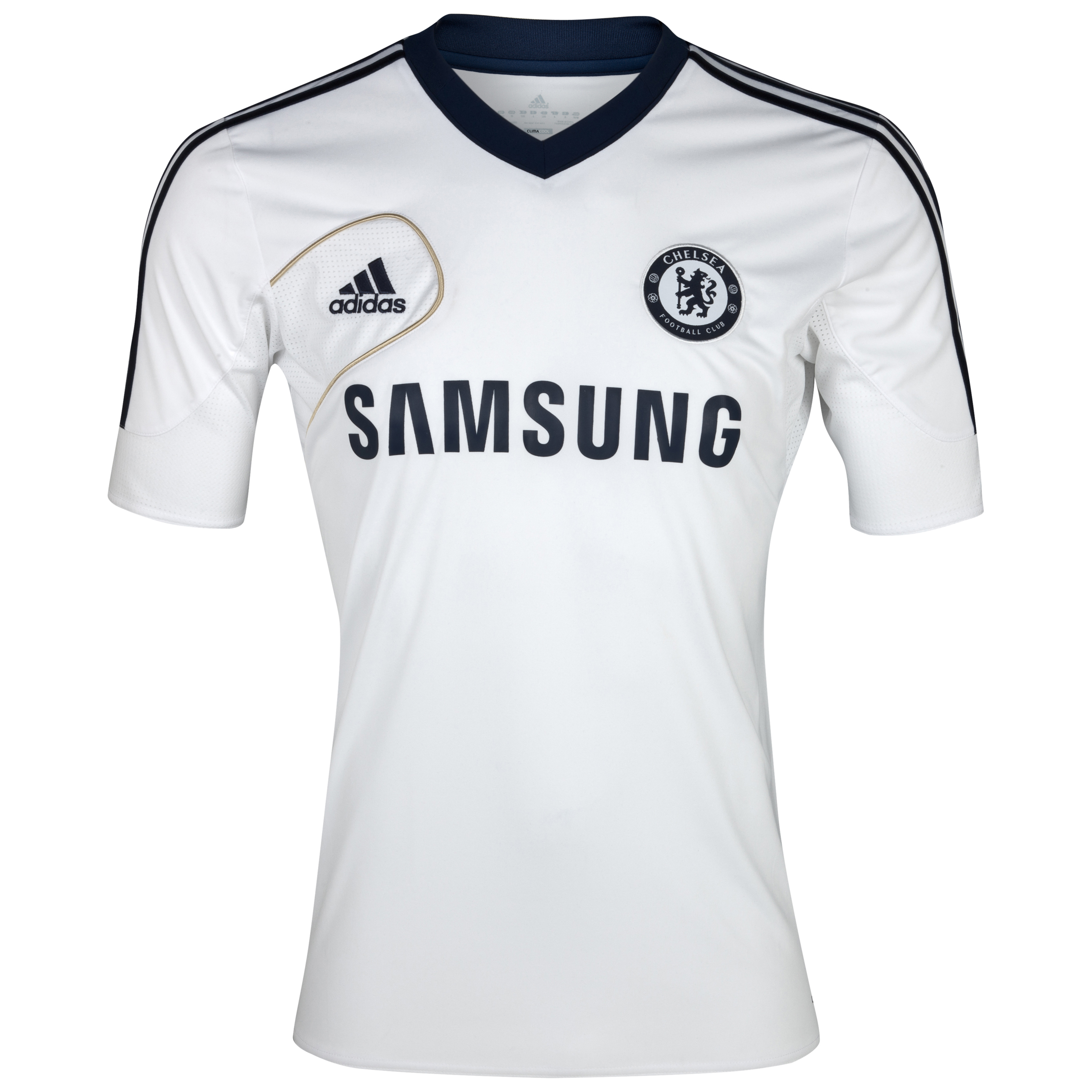 adidas Chelsea Training Jersey - White/Collegiate Navy/Light Football Gold - Kids