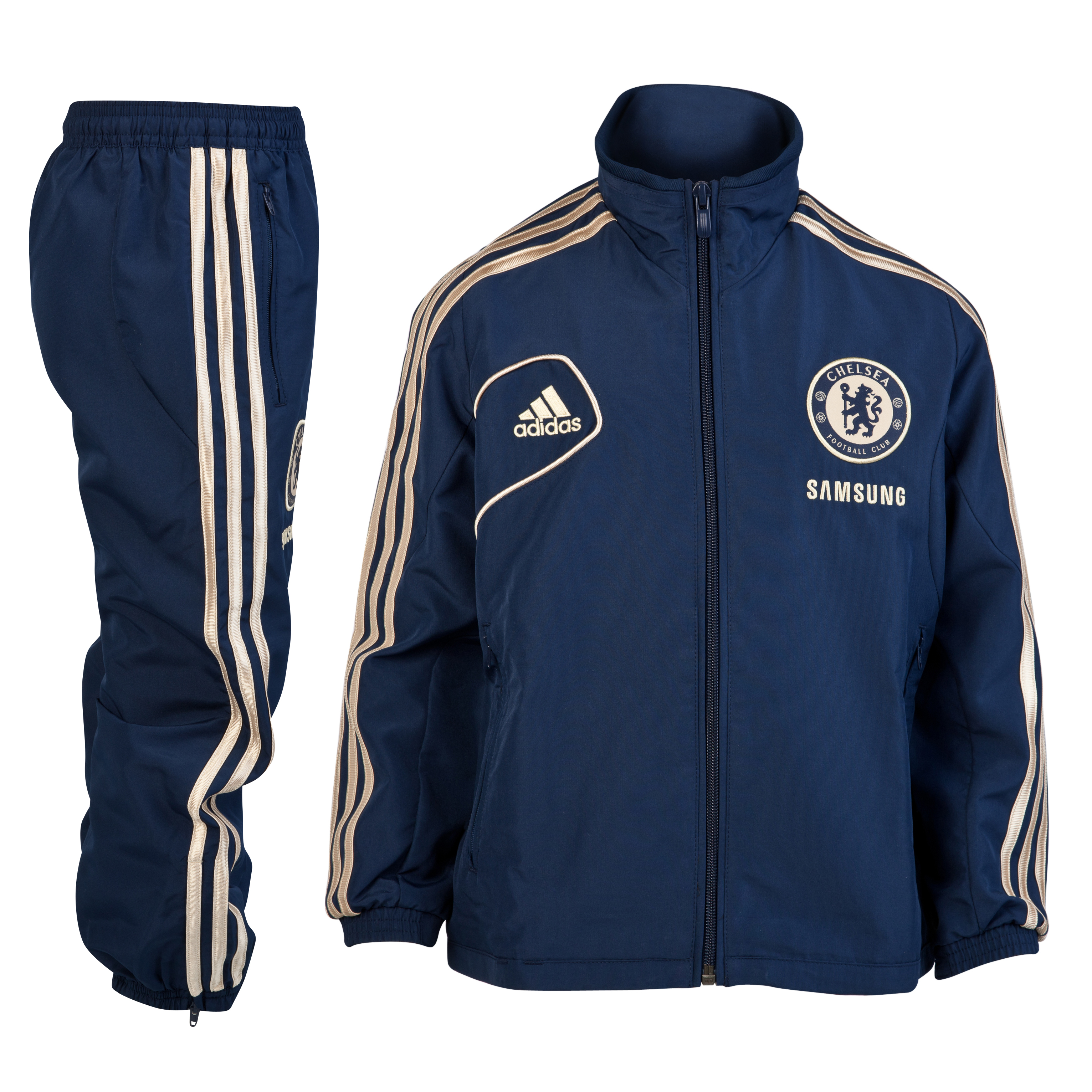 adidas Chelsea Training Presentation Suit - Collegiate Navy/Light Football Gold - Infants