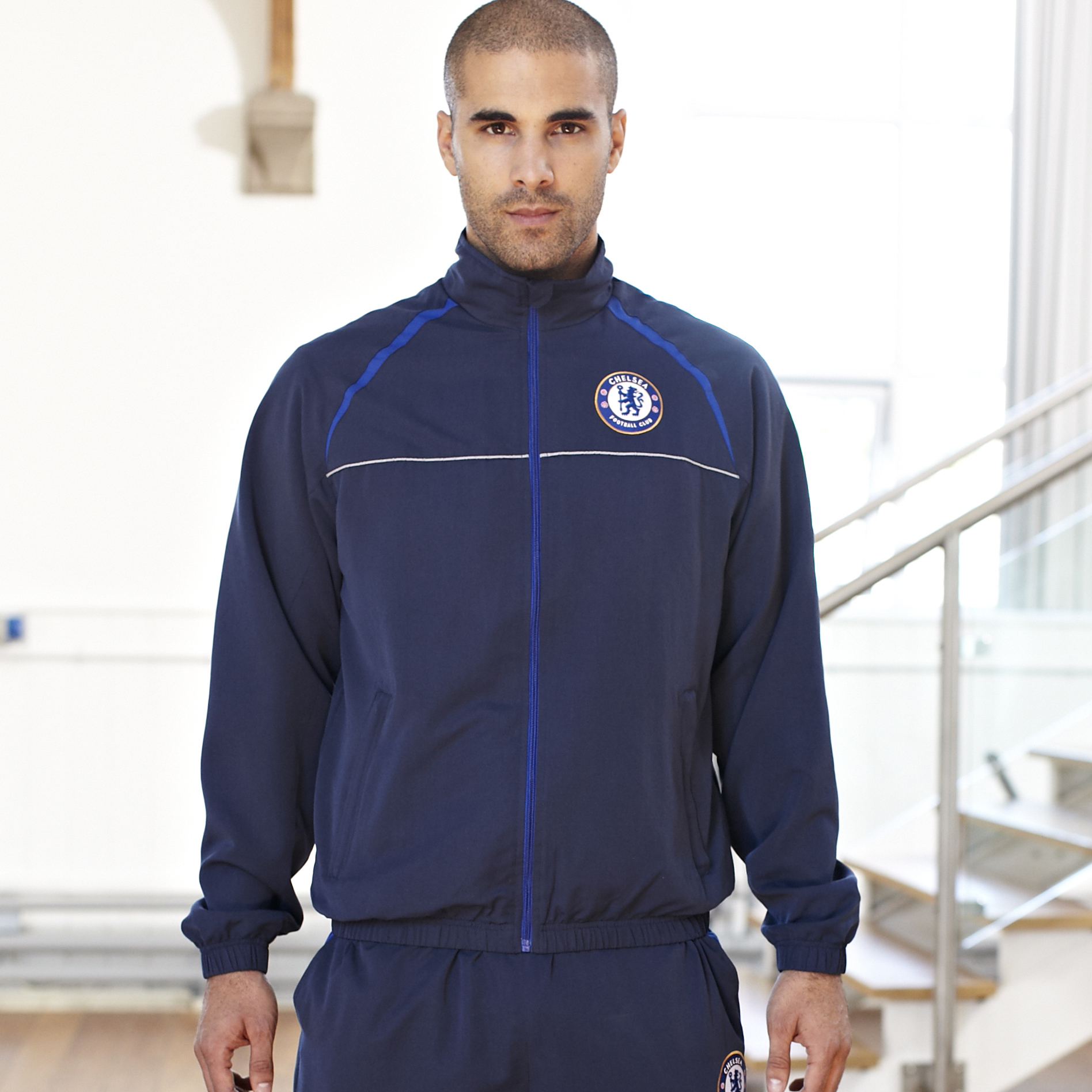 Chelsea Essentials Woven Track Top - Navy - Mens