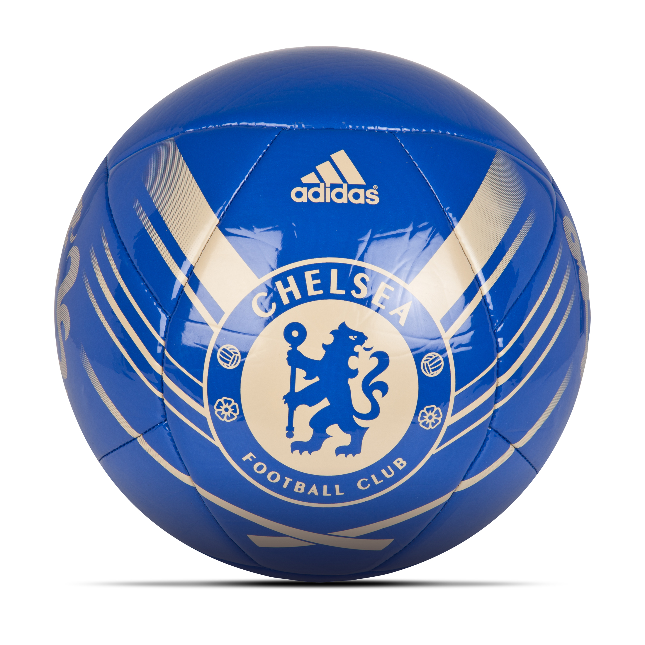 adidas Chelsea Crest Football - Cfc Reflex Blue/Light Football Gold Size 5