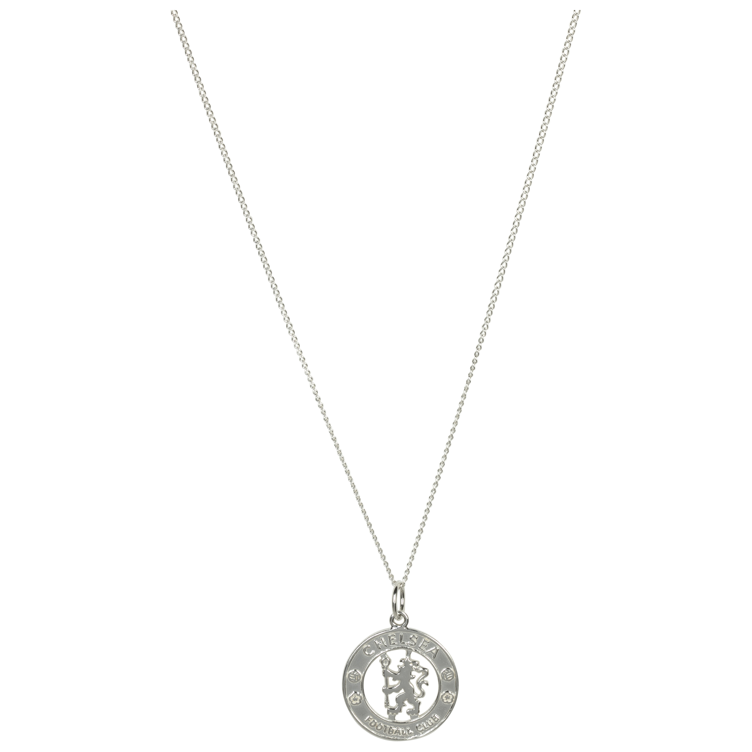 Chelsea Cut Out Crest Pendant and Chain - Sterling Silver