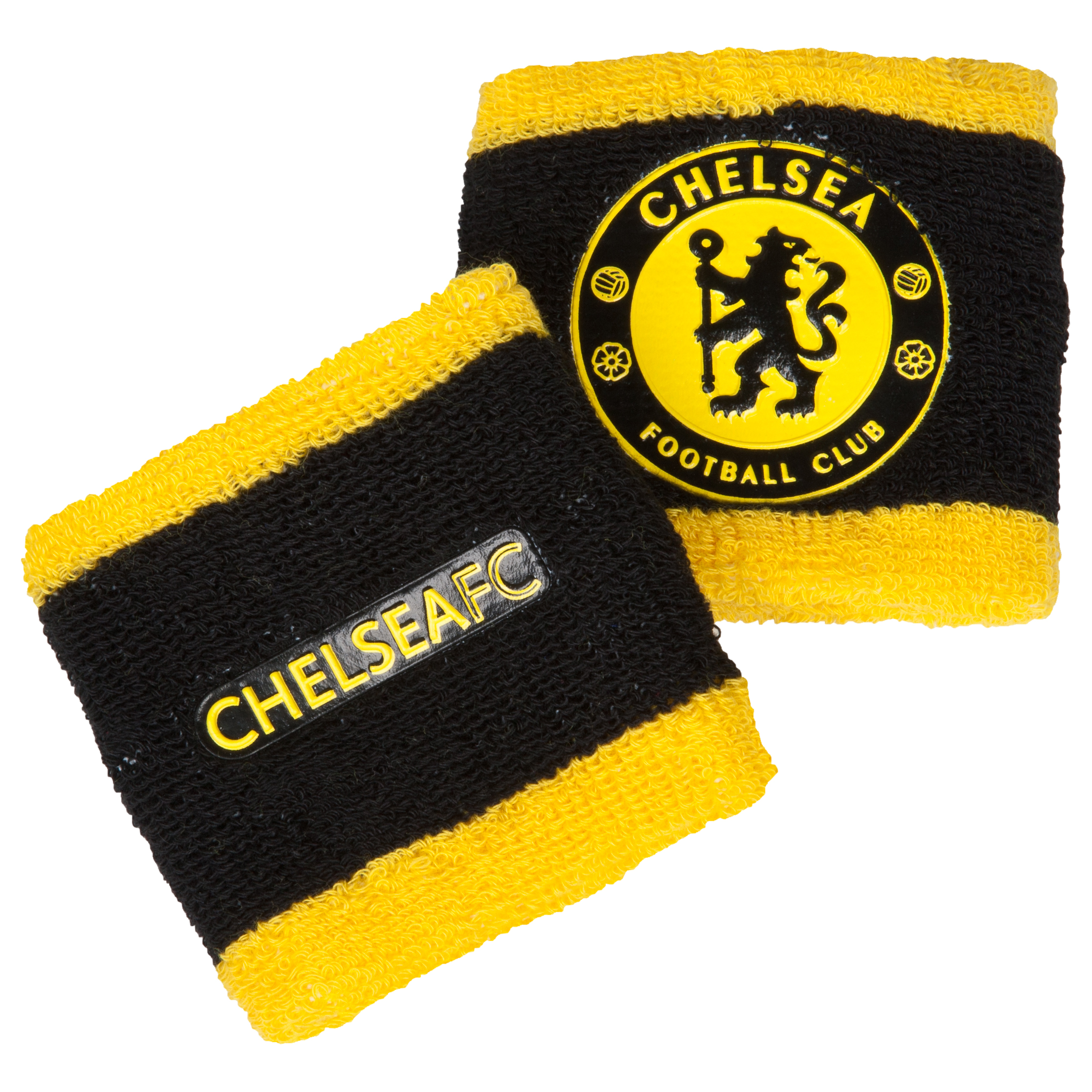 Chelsea Wristbands 2 Pack - Black/Yellow