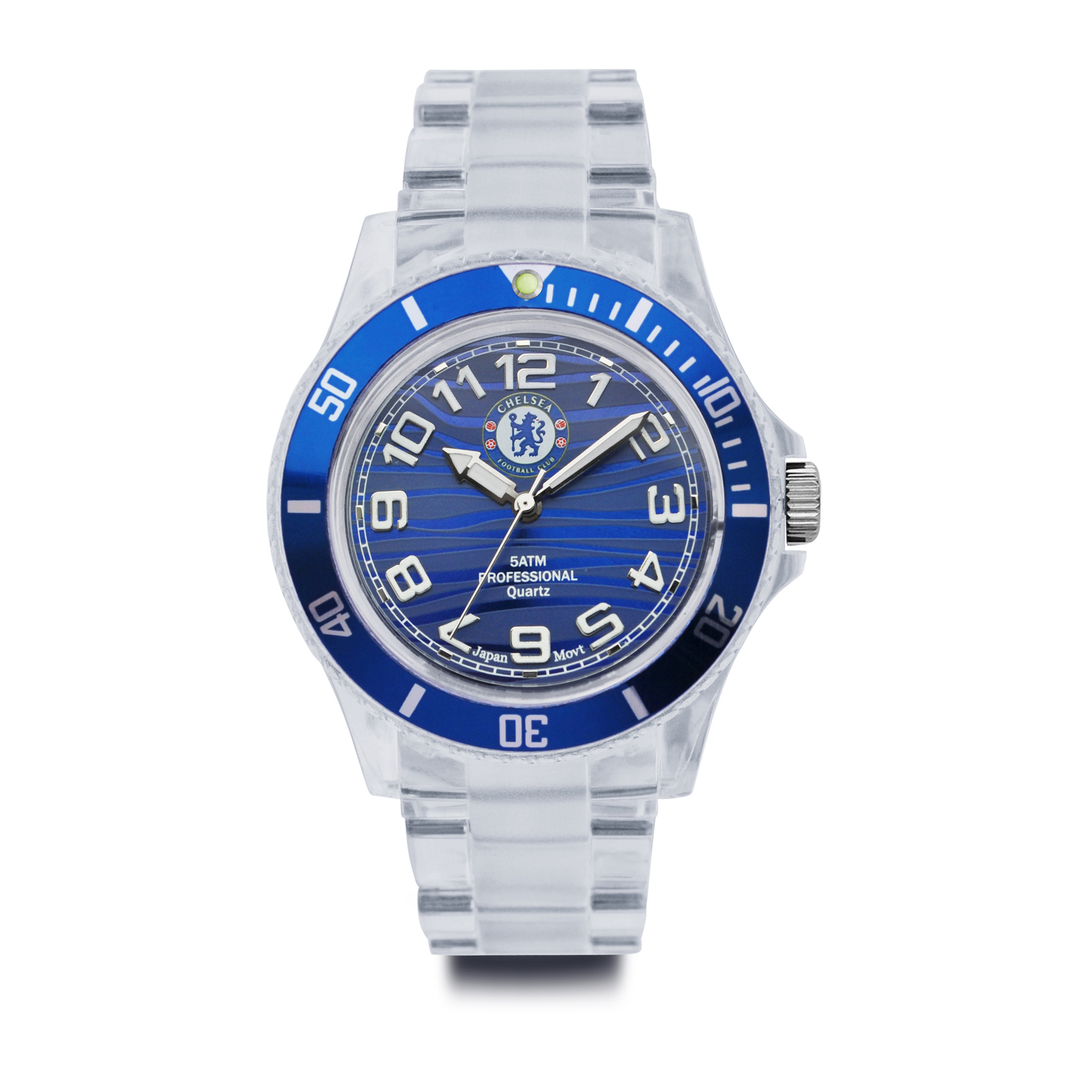 Chelsea Clear Plastic Bracelet Strap Analogue Watch