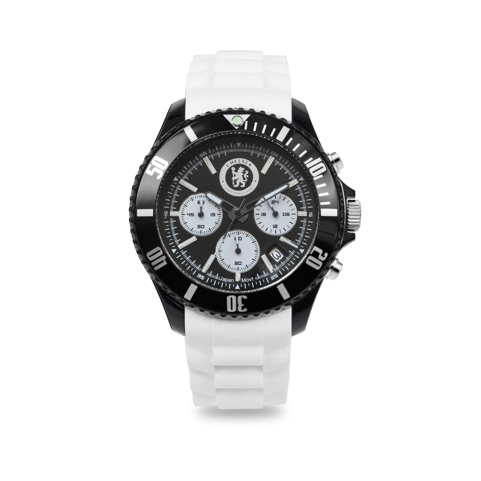 Chelsea Silicon Strap Chronograph Watch with Date