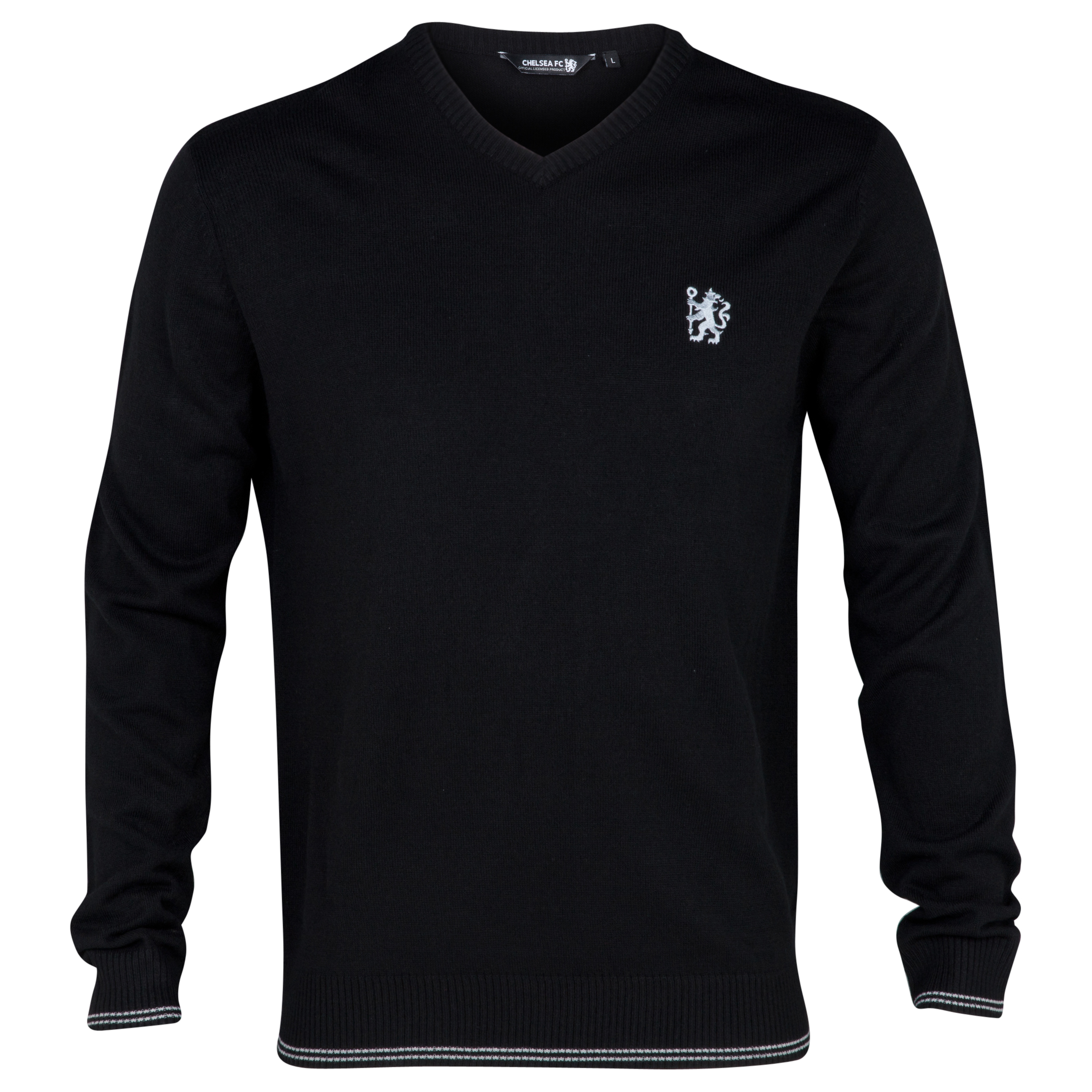 Chelsea Executive V Neck Jumper - Black - Mens