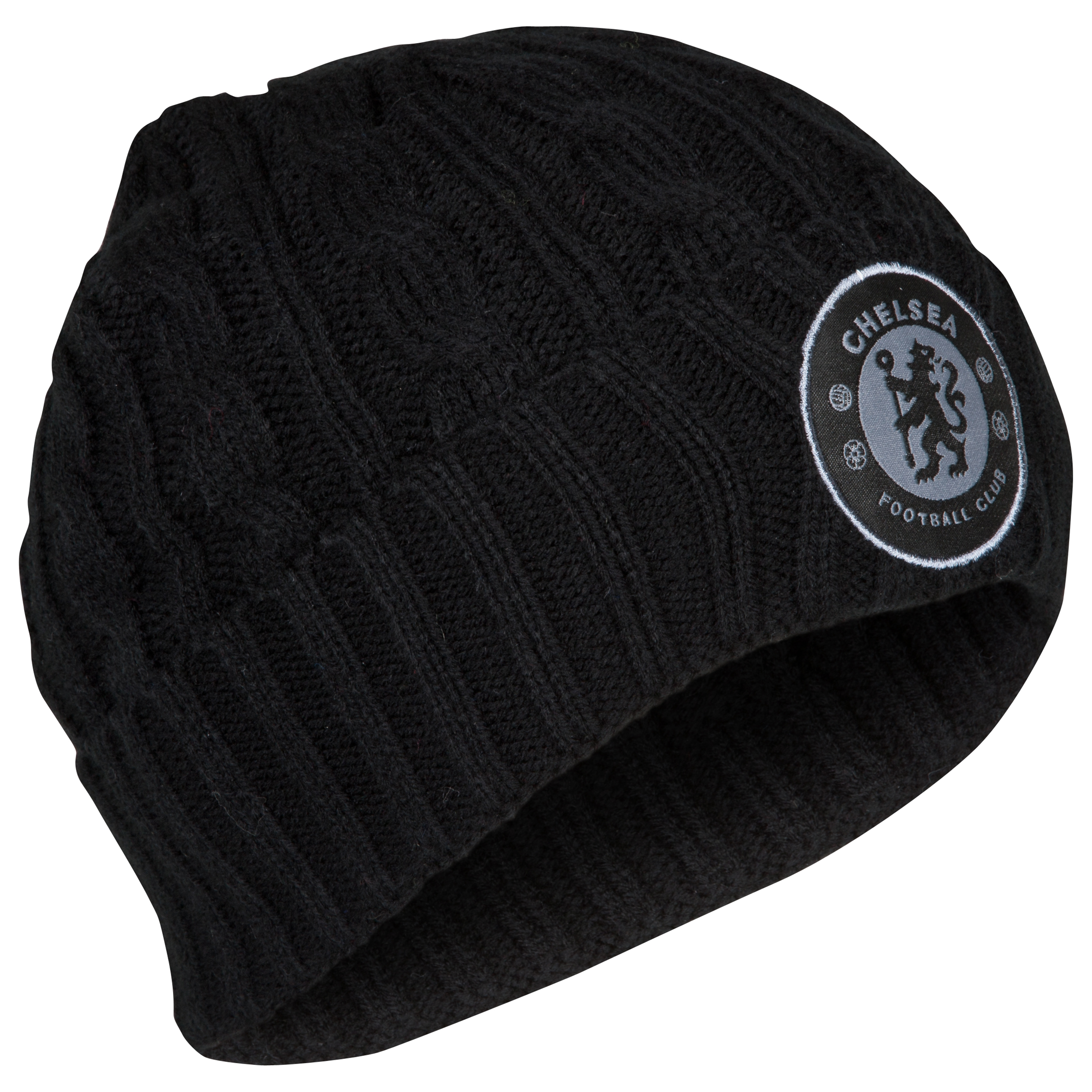 Chelsea Cable Cuff Beanie - Black - Mens