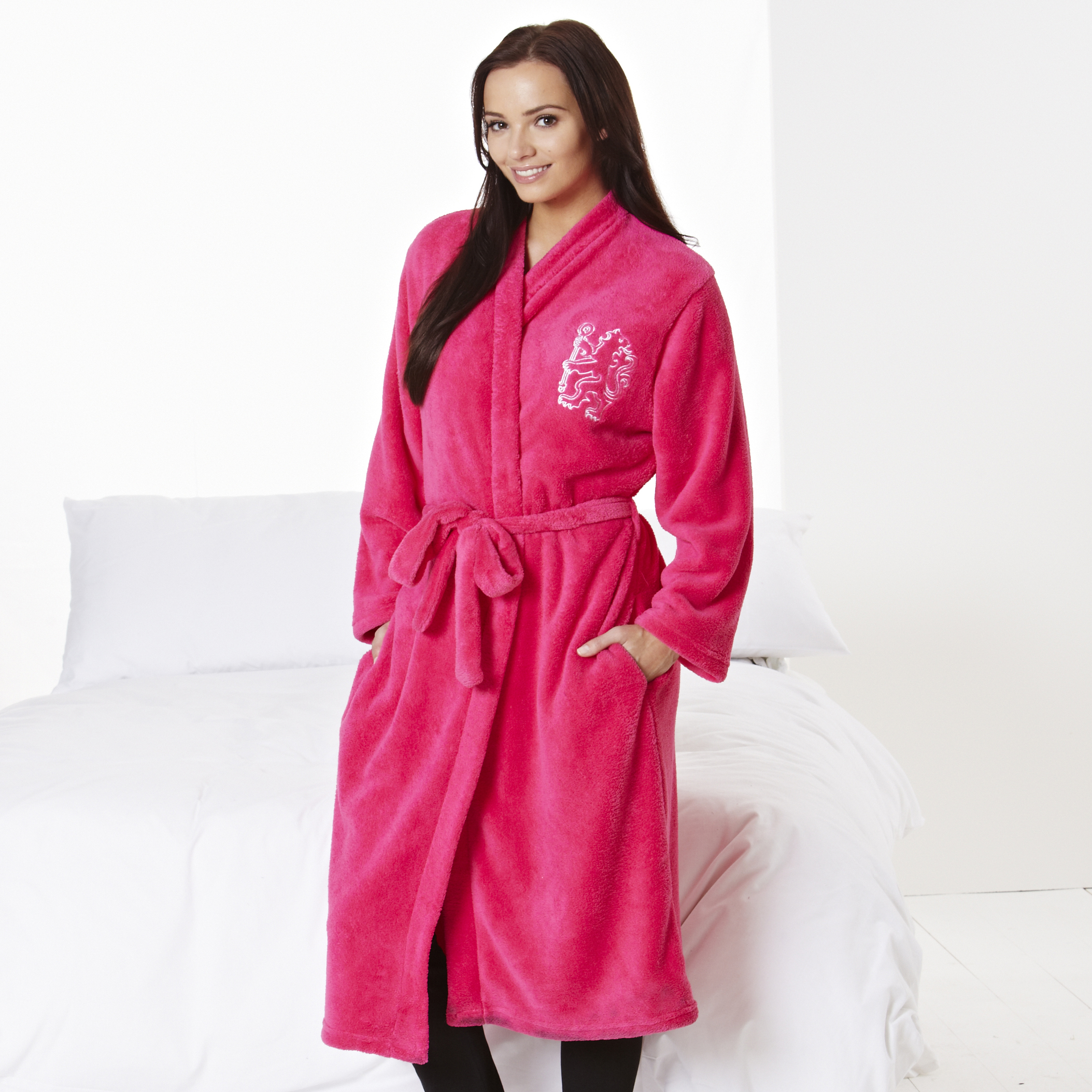 Chelsea Large Lion Robe - Cerise Pink - Womens
