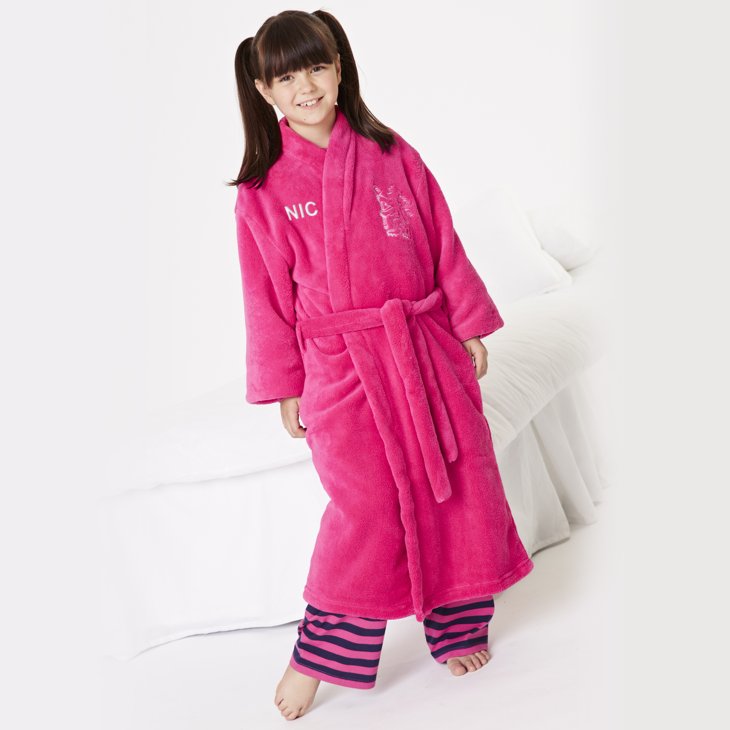 Chelsea Large Lion Robe - Cerise Pink - Older Girls