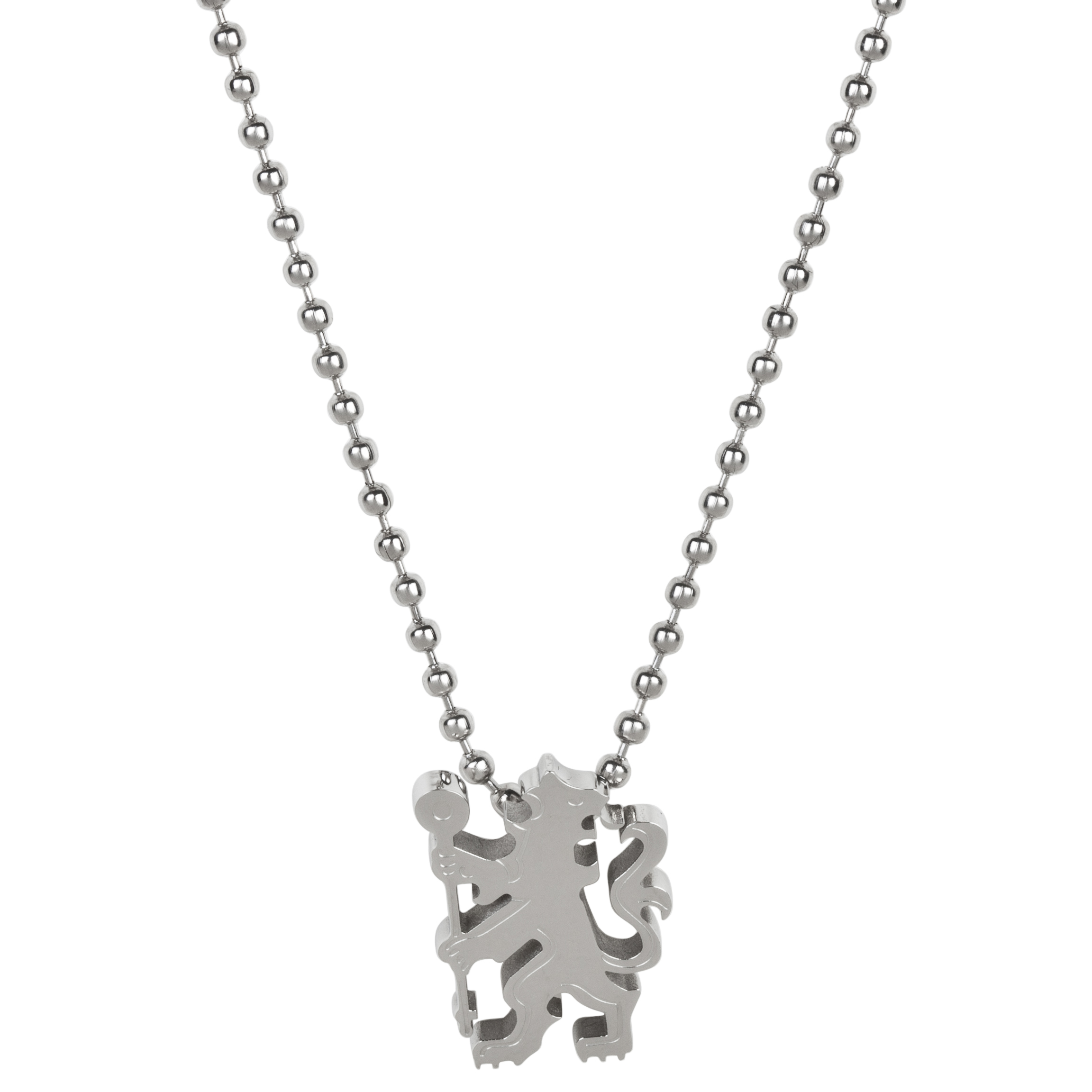 Chelsea Cut Out Lion Pendant - Stainless Steel