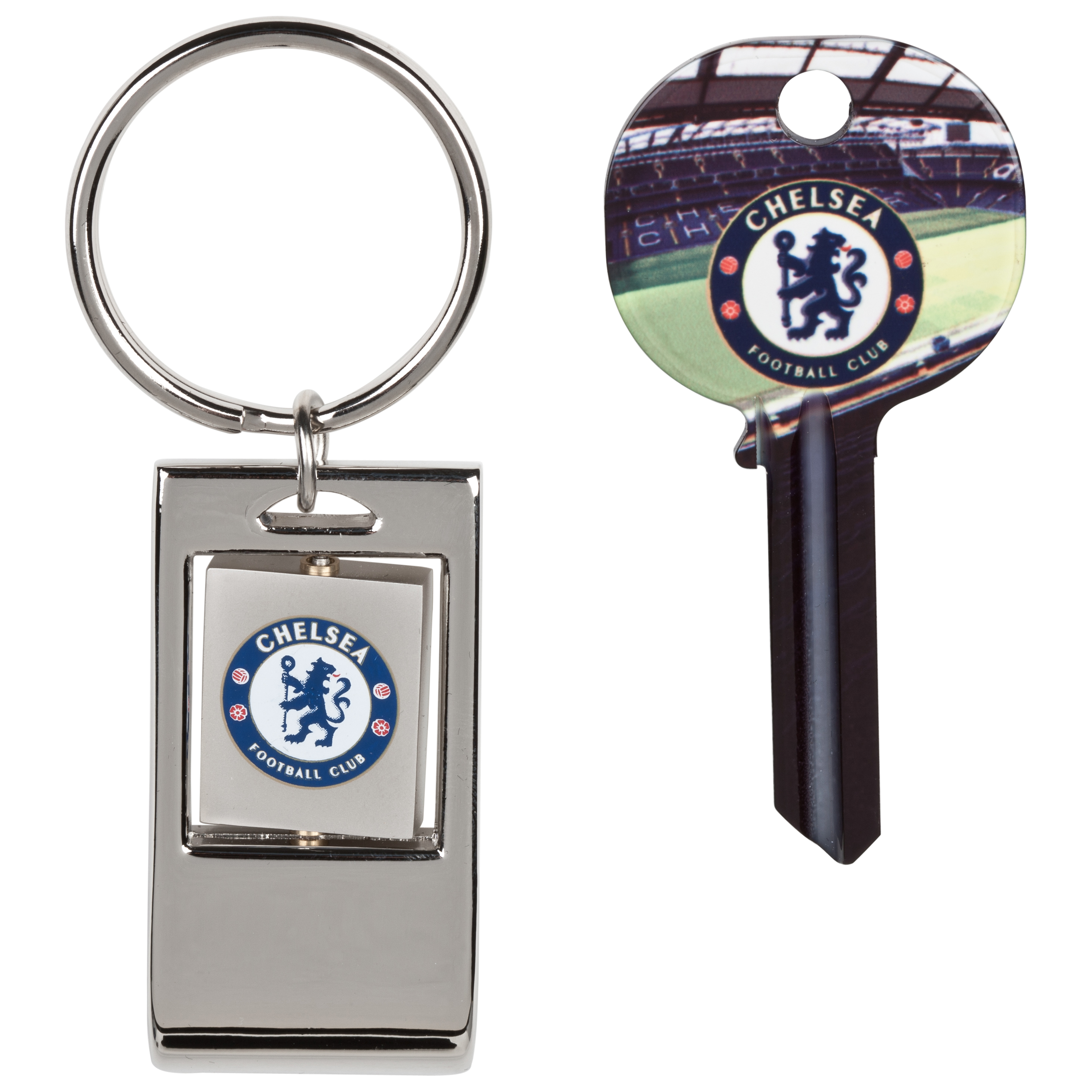 Chelsea Blank Key and Bottle Opener Key Ring Set in Shirt Shaped Tin