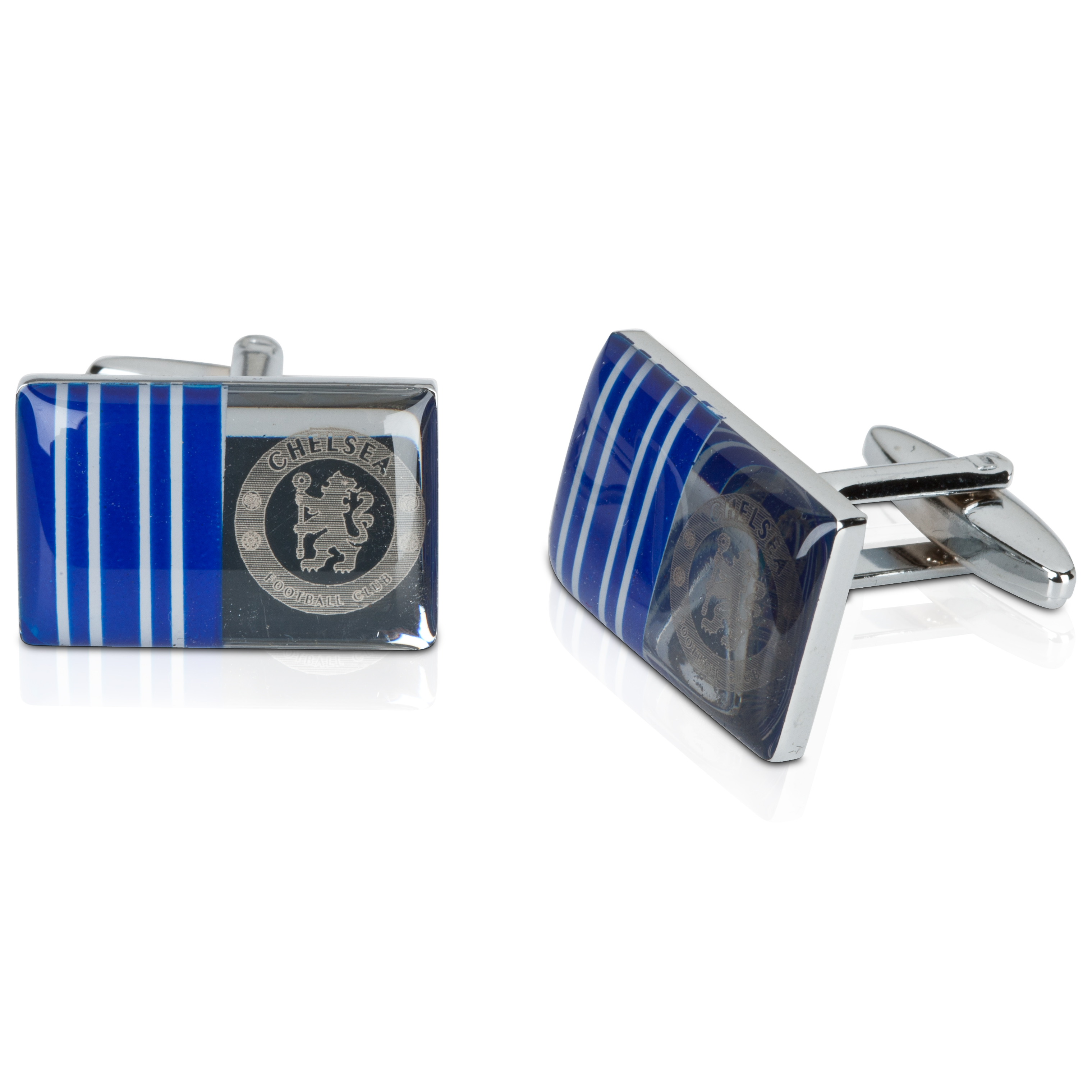 Chelsea Striped Crest Cufflinks