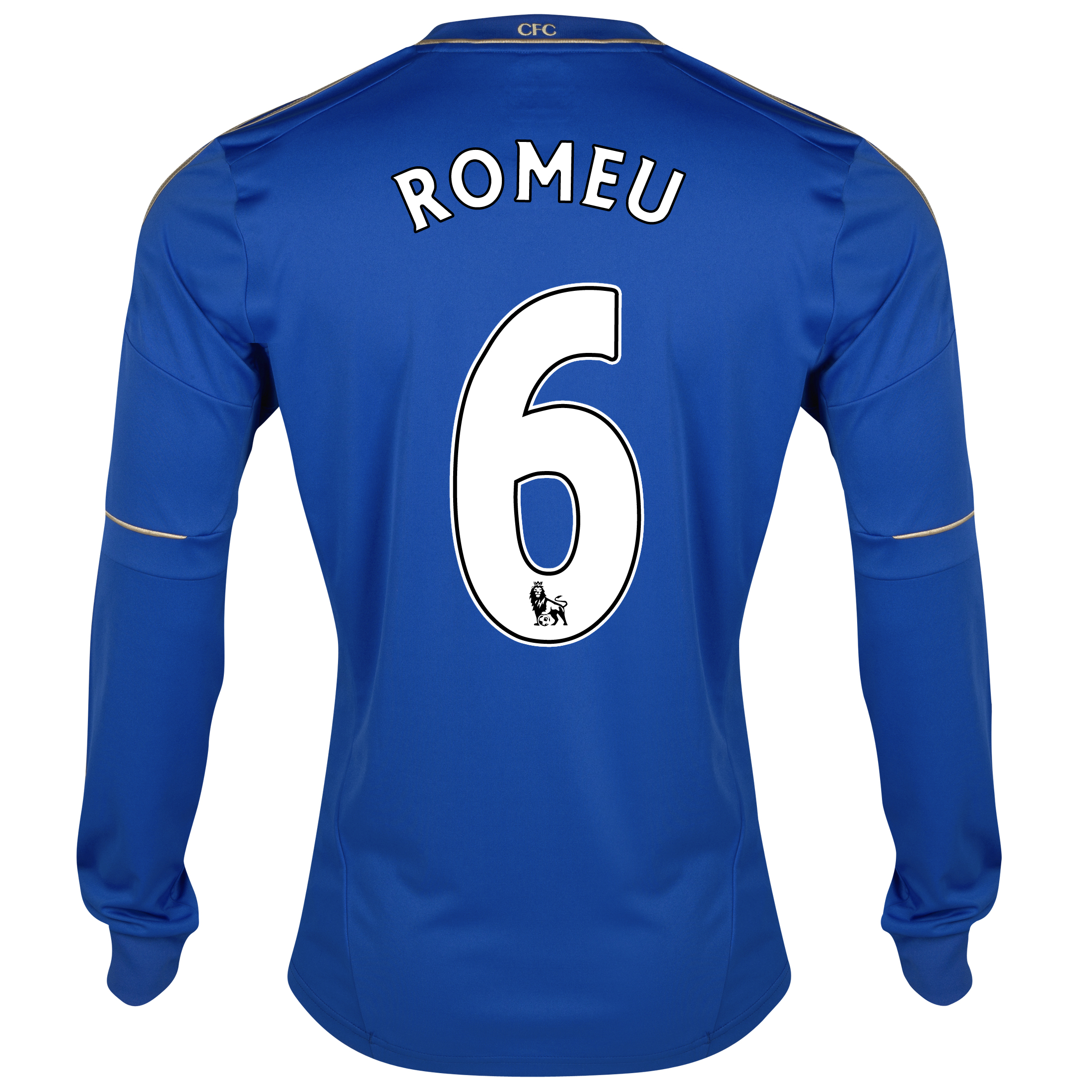 Chelsea Home Shirt 2012/13 - Long Sleeved with Romeu 6 printing