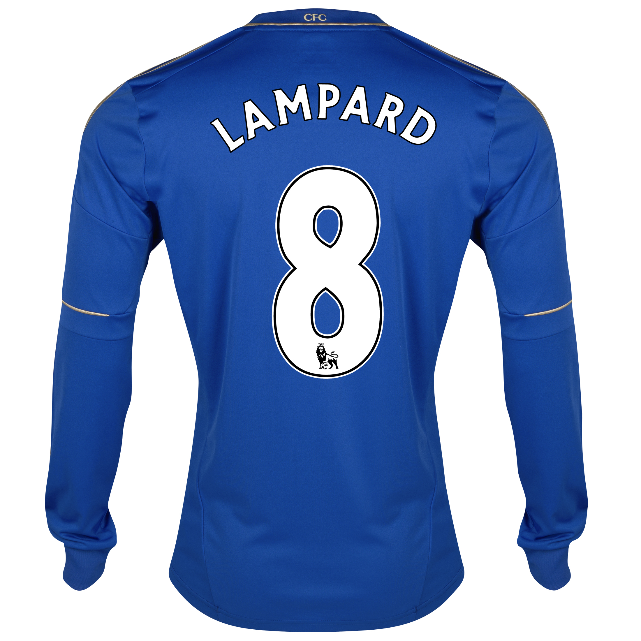 Chelsea Home Shirt 2012/13 - Long Sleeved with Lampard 8 printing